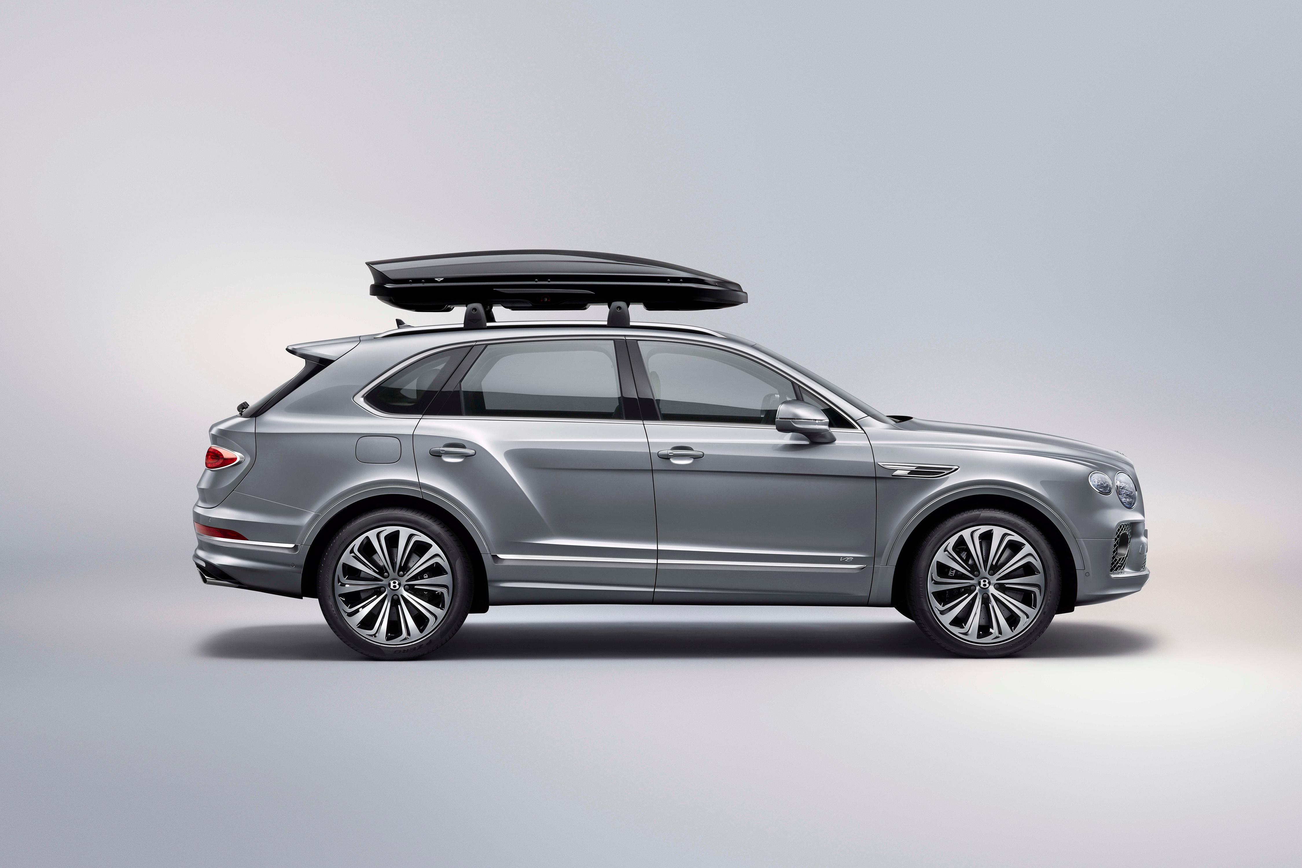 Picture Bentley Crossover Bentayga V8 Worldwide, 2020 gray Cars Side Metallic 4500x3001 CUV Grey auto automobile
