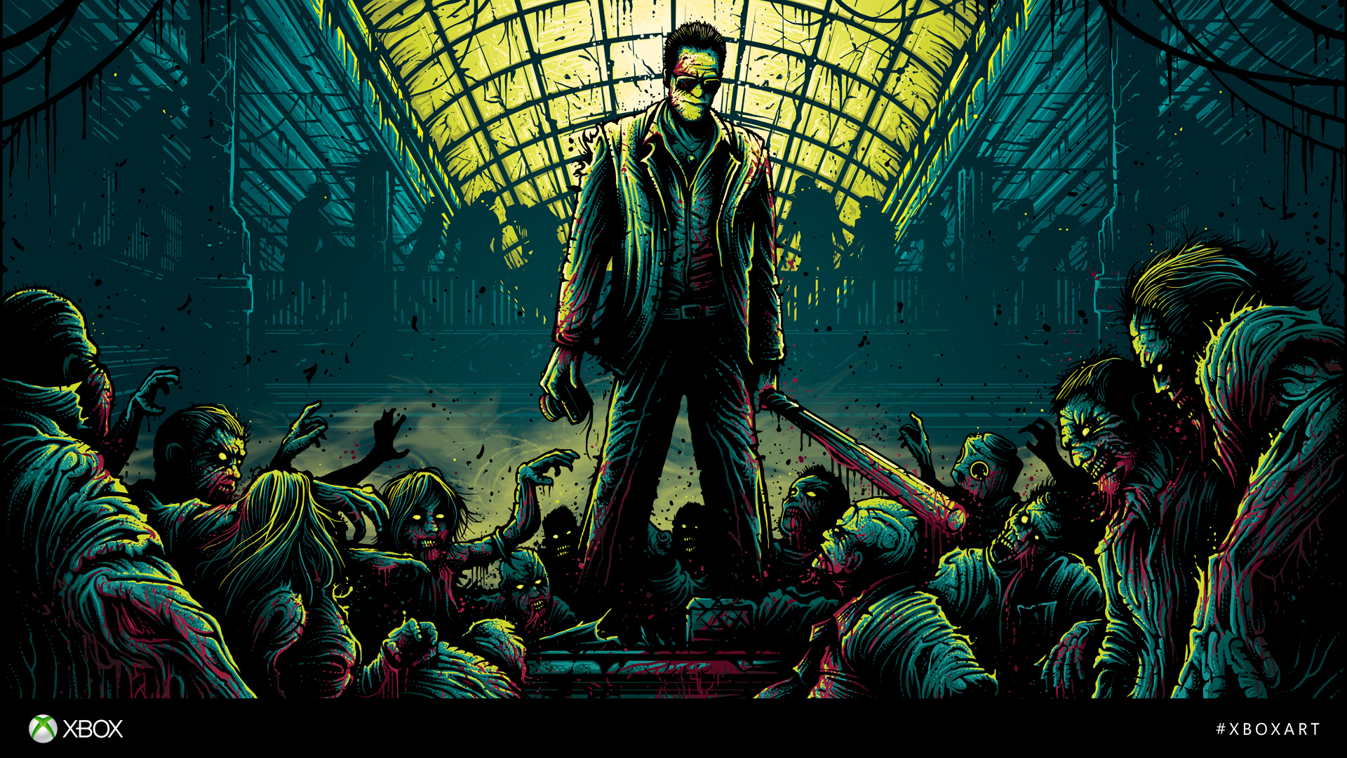Wallpaper Dead Rising Zombie Blood Frank West Vdeo Game 1920x1080
