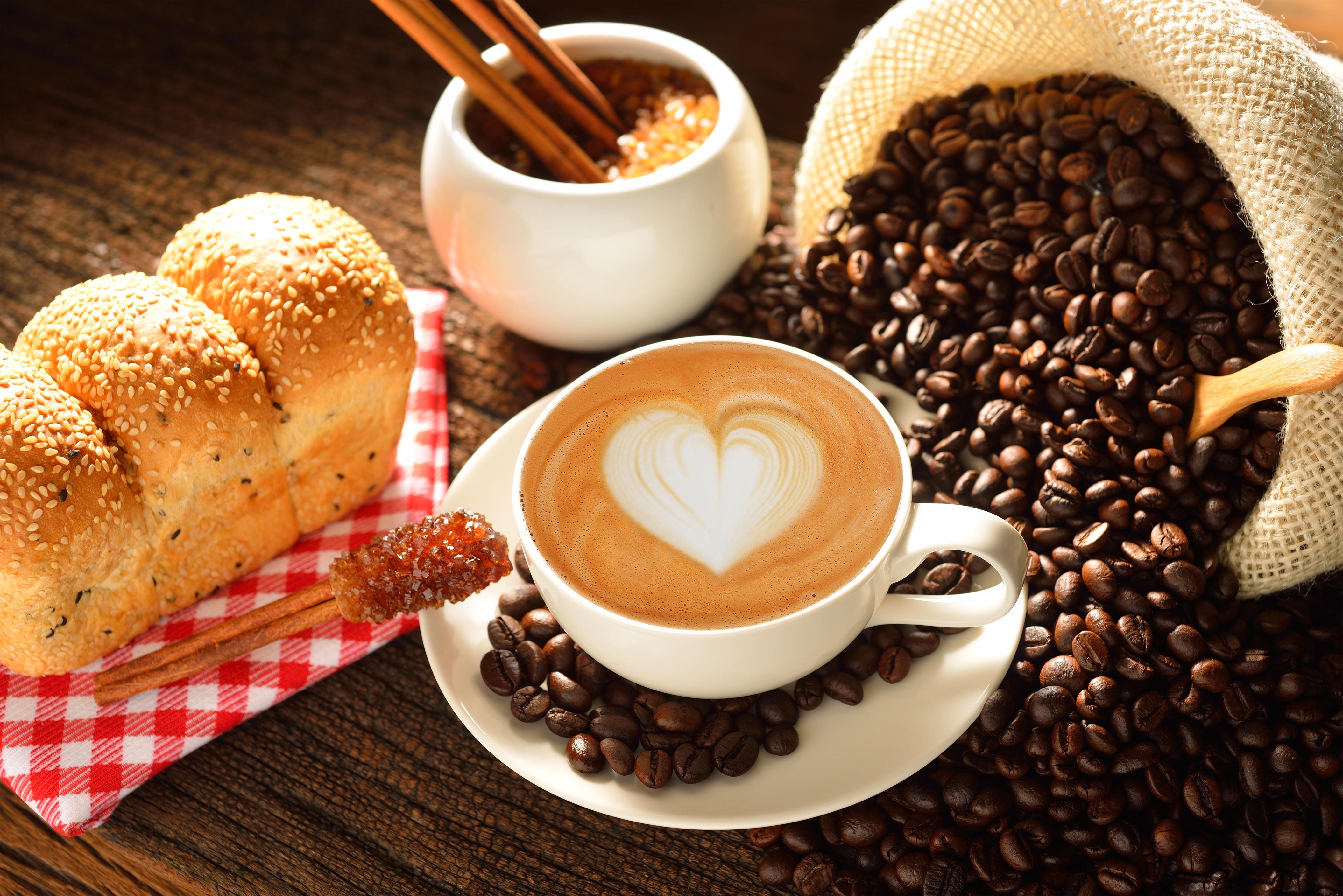 4219x2816 Café Bollo Capuchino Cereal Taza Vajilla el platillo Alimentos