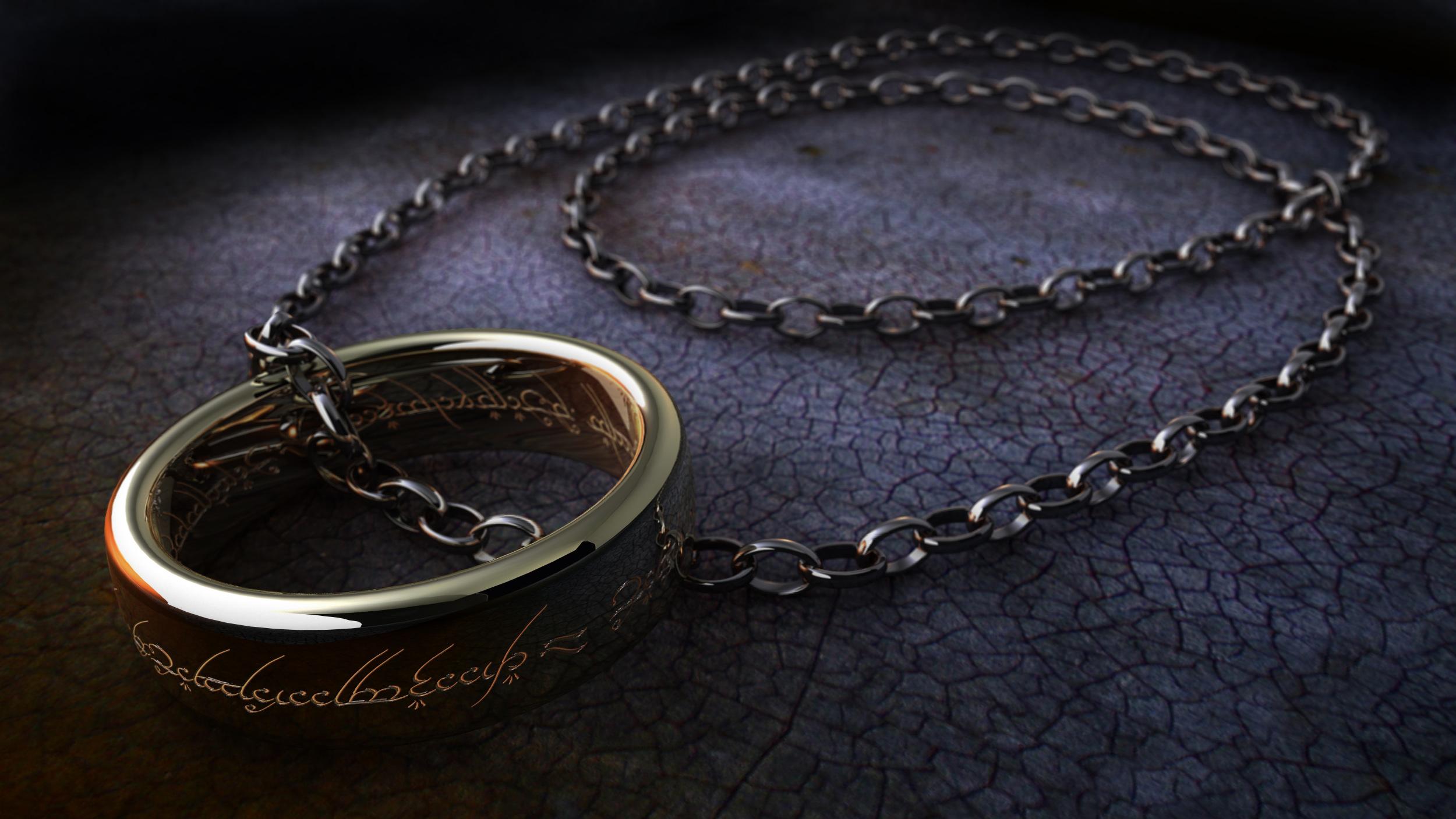 Bilder Ringenes herre Film Kjetting Fingerring 2500x1407 smykker ring