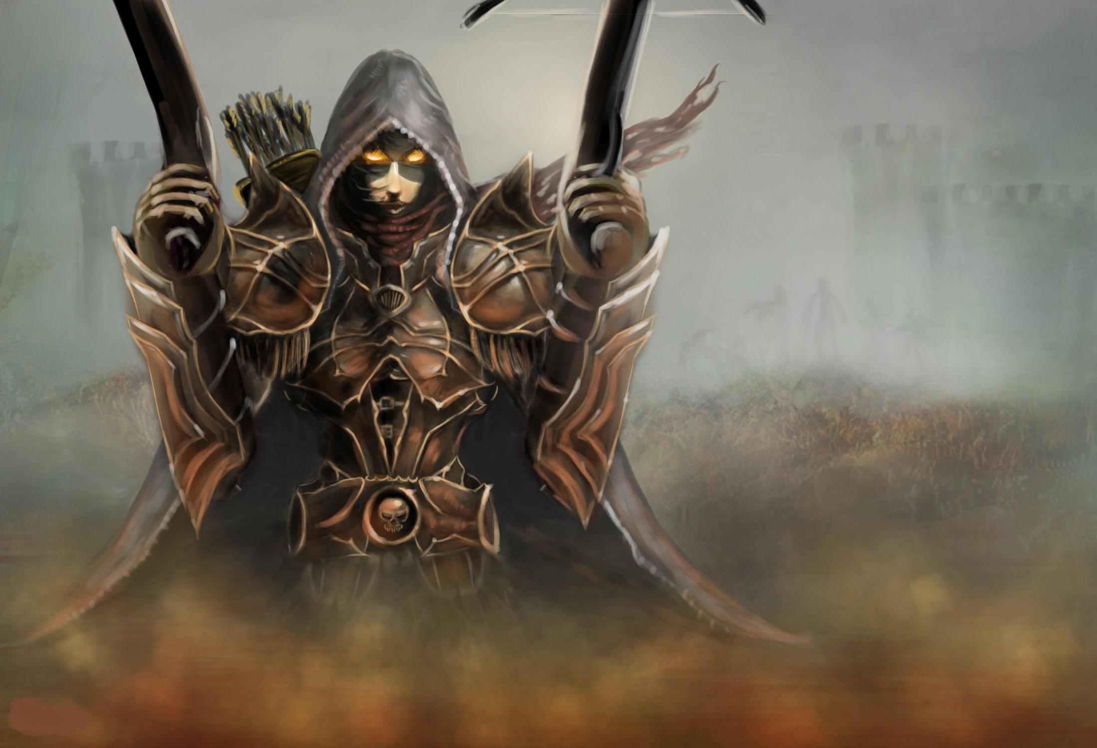 Photos Diablo 3 Armor Demon Demon Hunter Fantasy Games 2200x1500