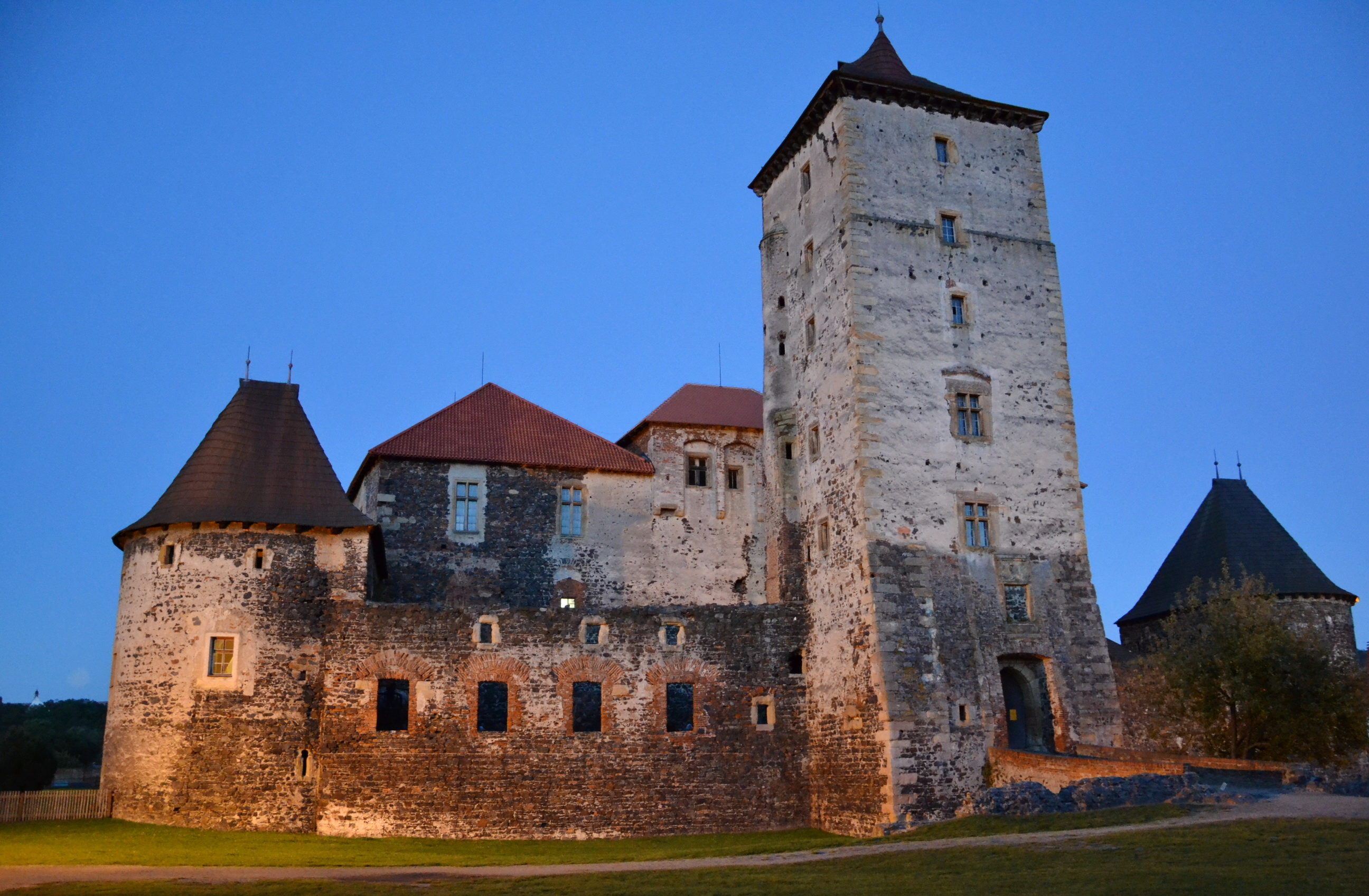 Image Czech Republic Castles Made of stone Cities castle