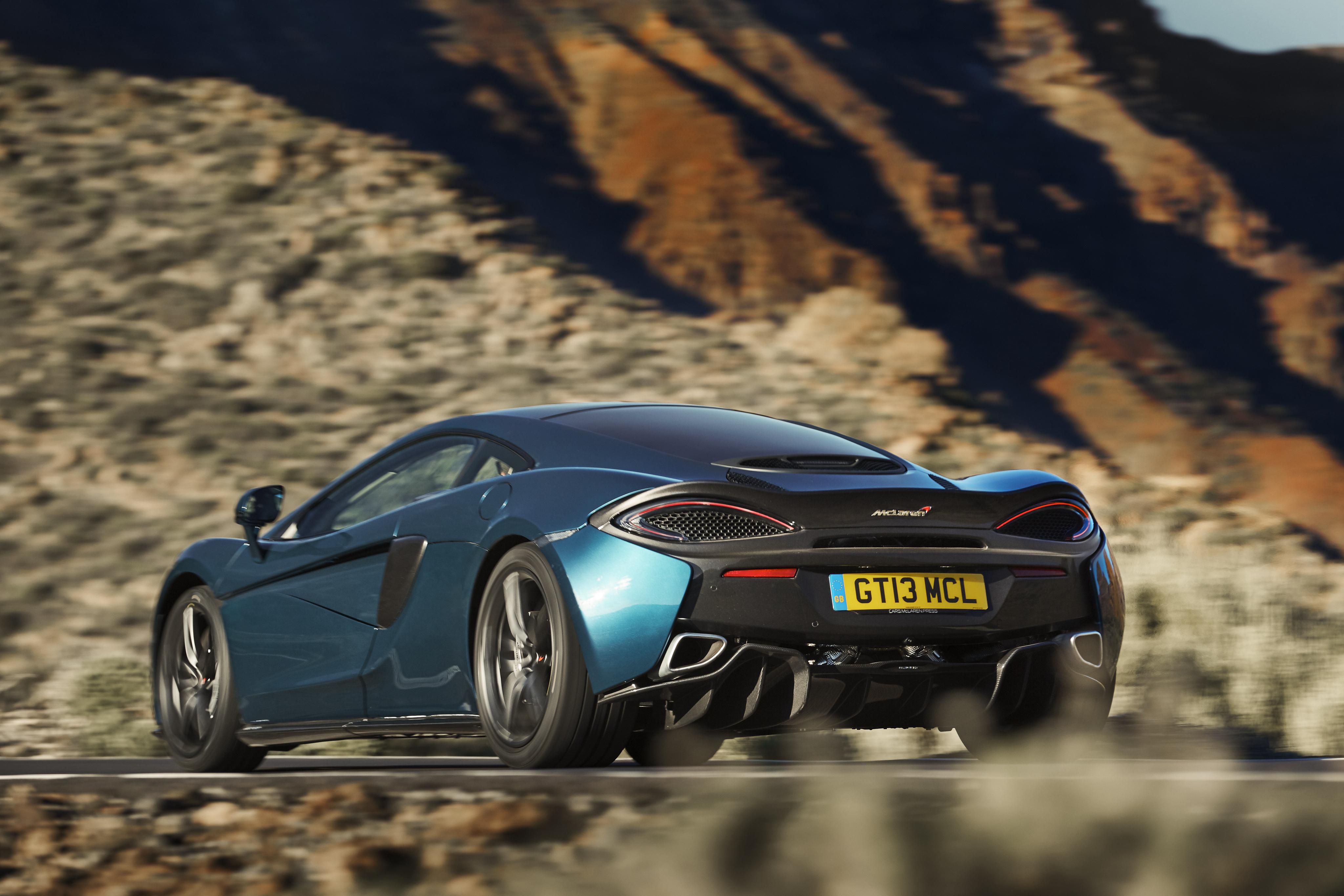 Wallpaper McLaren 570GT Cars Back view 4096x2731 auto automobile