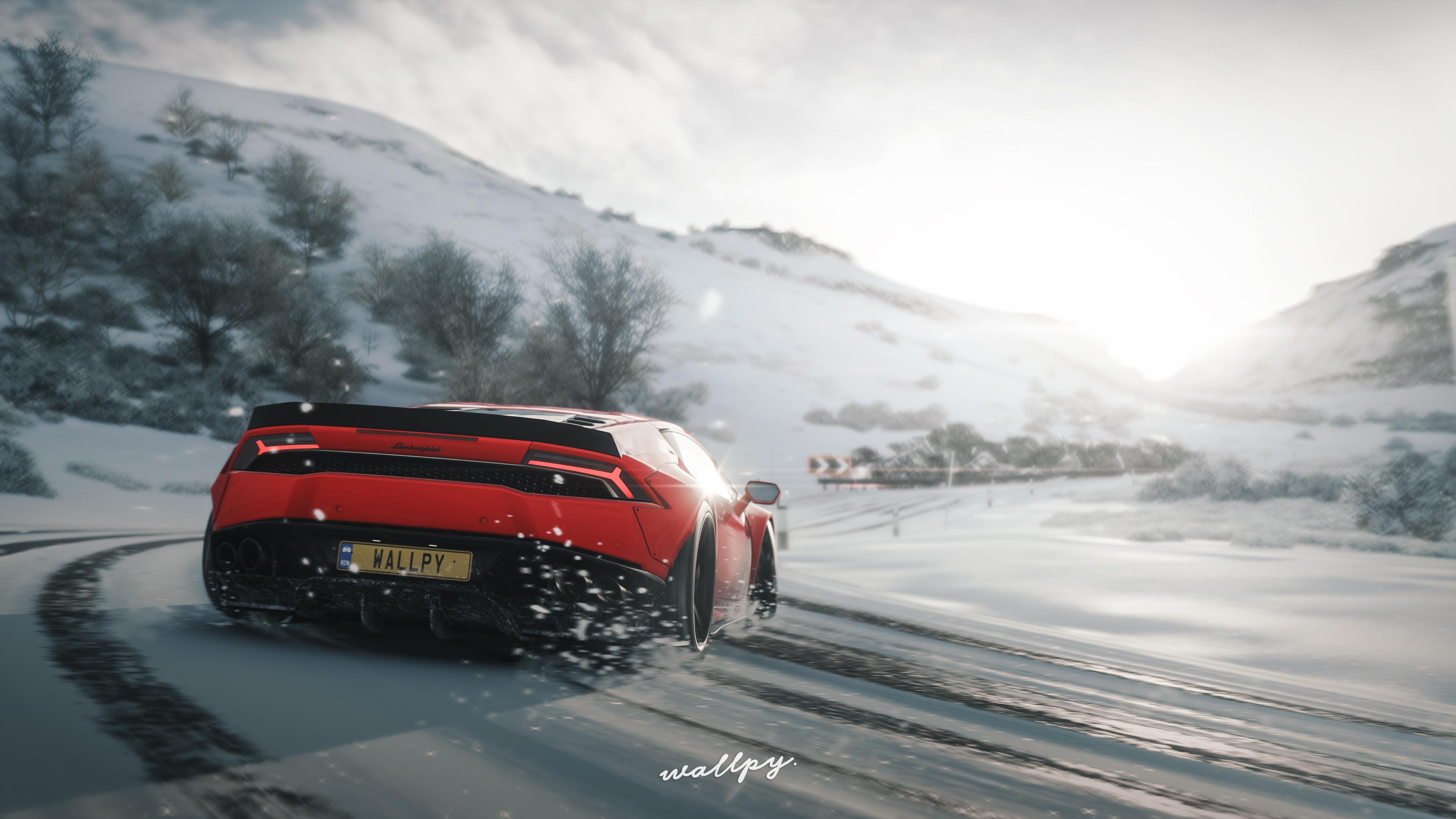 Photos Forza Horizon 4 Lamborghini Huracan By Wallpy Red