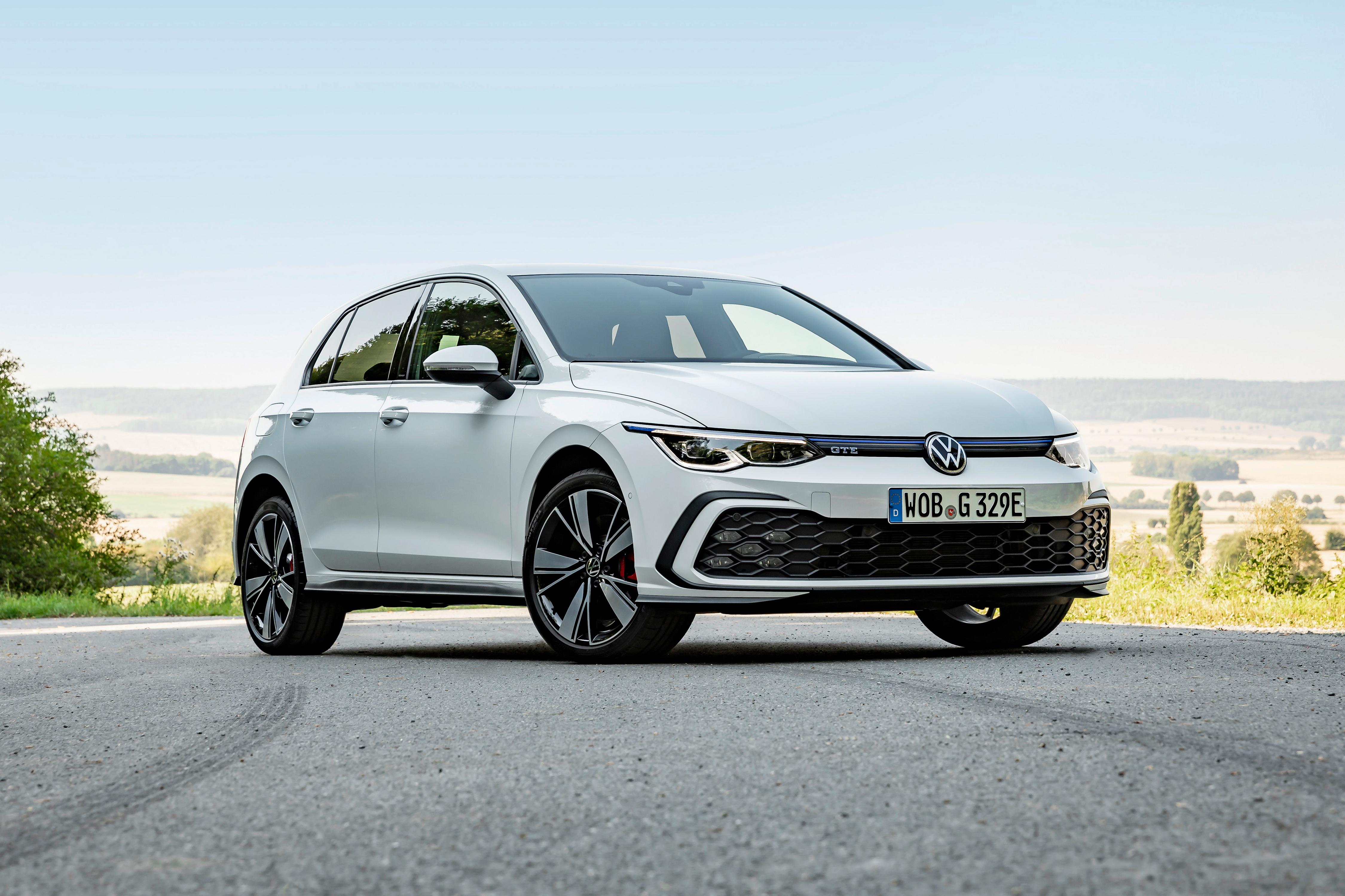 Desktop Hintergrundbilder Volkswagen Golf GTE, 2020 Weiß Autos Metallisch 4500x3000 auto automobil