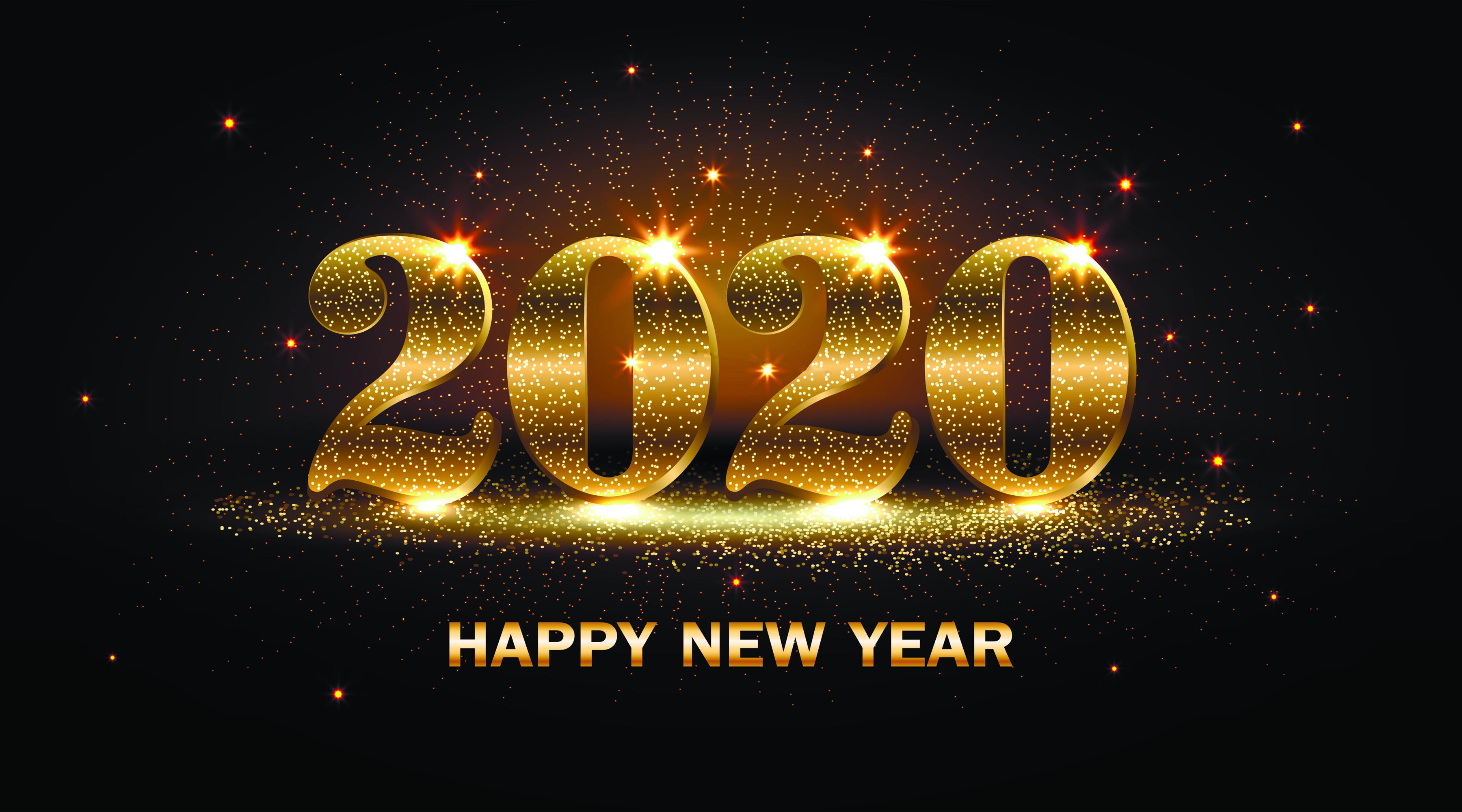 Bilde 2020 Nyttår engelske Grå bakgrunn 3600x2000 jul Engelsk