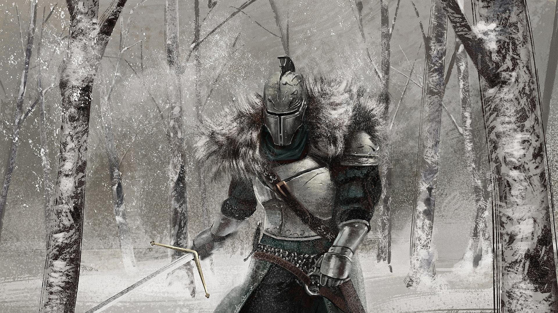 Wallpaper Dark Souls Armor Swords Knight Helmet 2 Fantasy 1920x1080