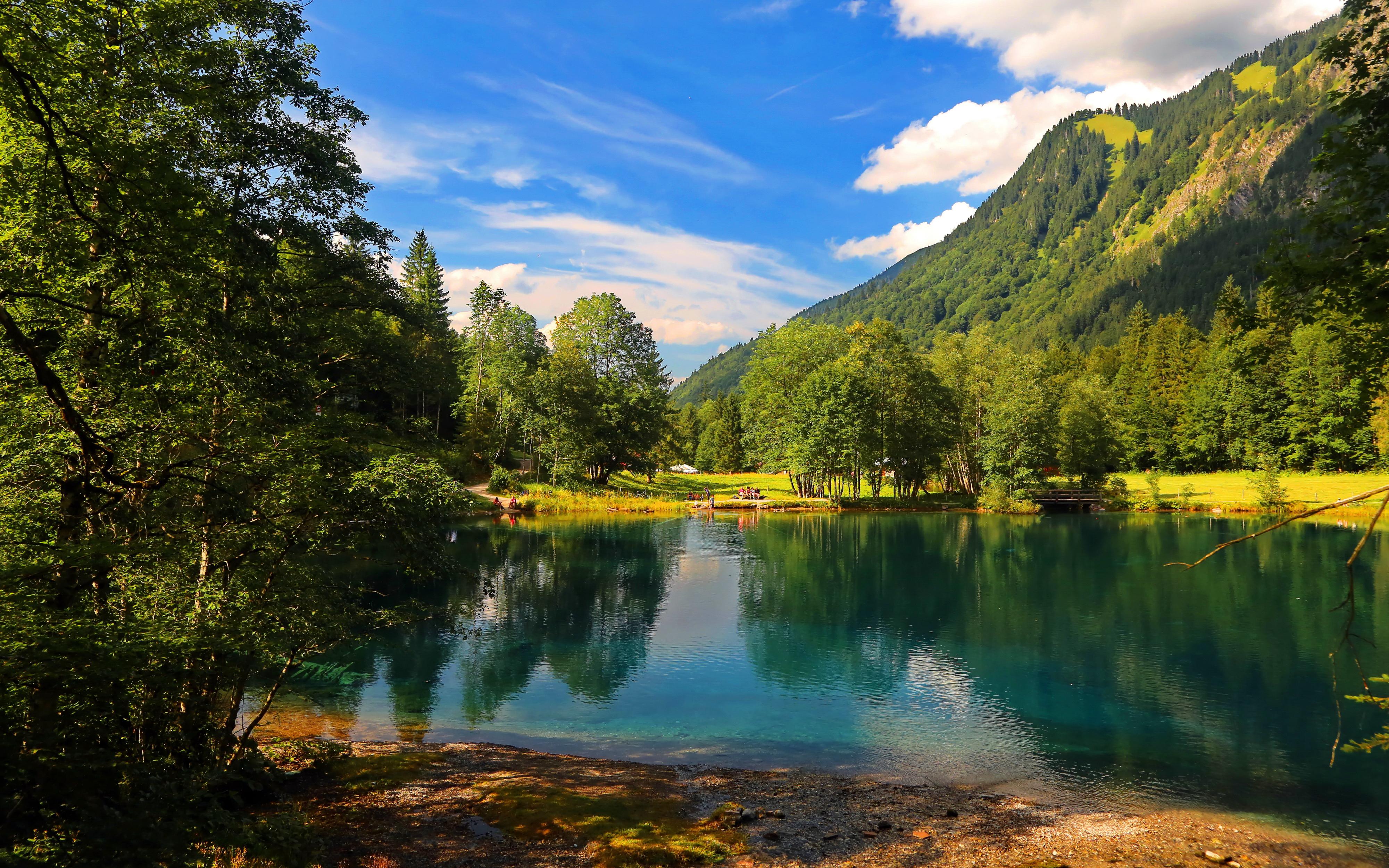 Fonds D Ecran 4000x2500 Photographie De Paysage Montagnes Lac Ete Ciel Arbres Nature Telecharger Photo