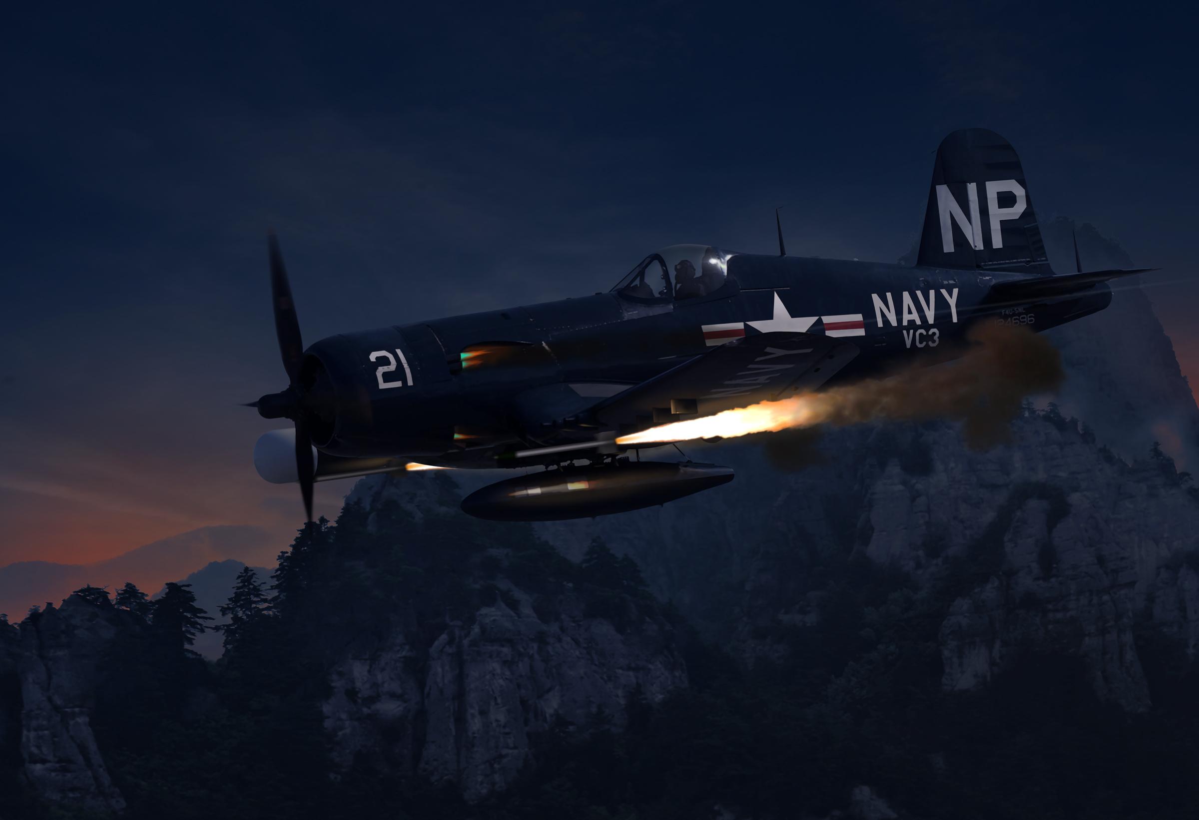 壁紙 2400x1642 飛行機 描かれた壁紙 Us Navy F4u5 Nl Corsair Of Vc3 Korean Conflict 航空 ダウンロード 写真