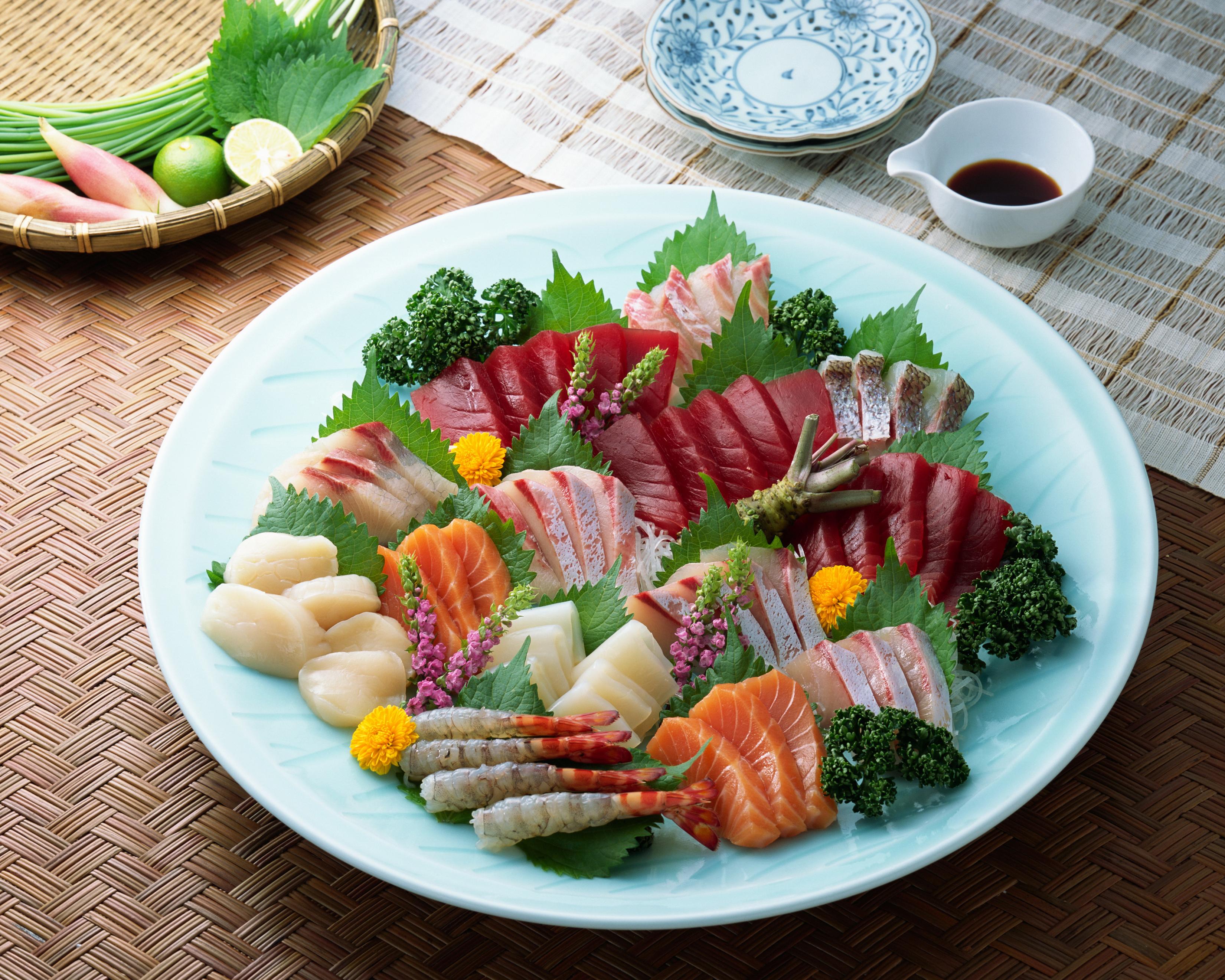 3300x2640、魚介類、魚料理、野菜、皿、食べ物、食品、