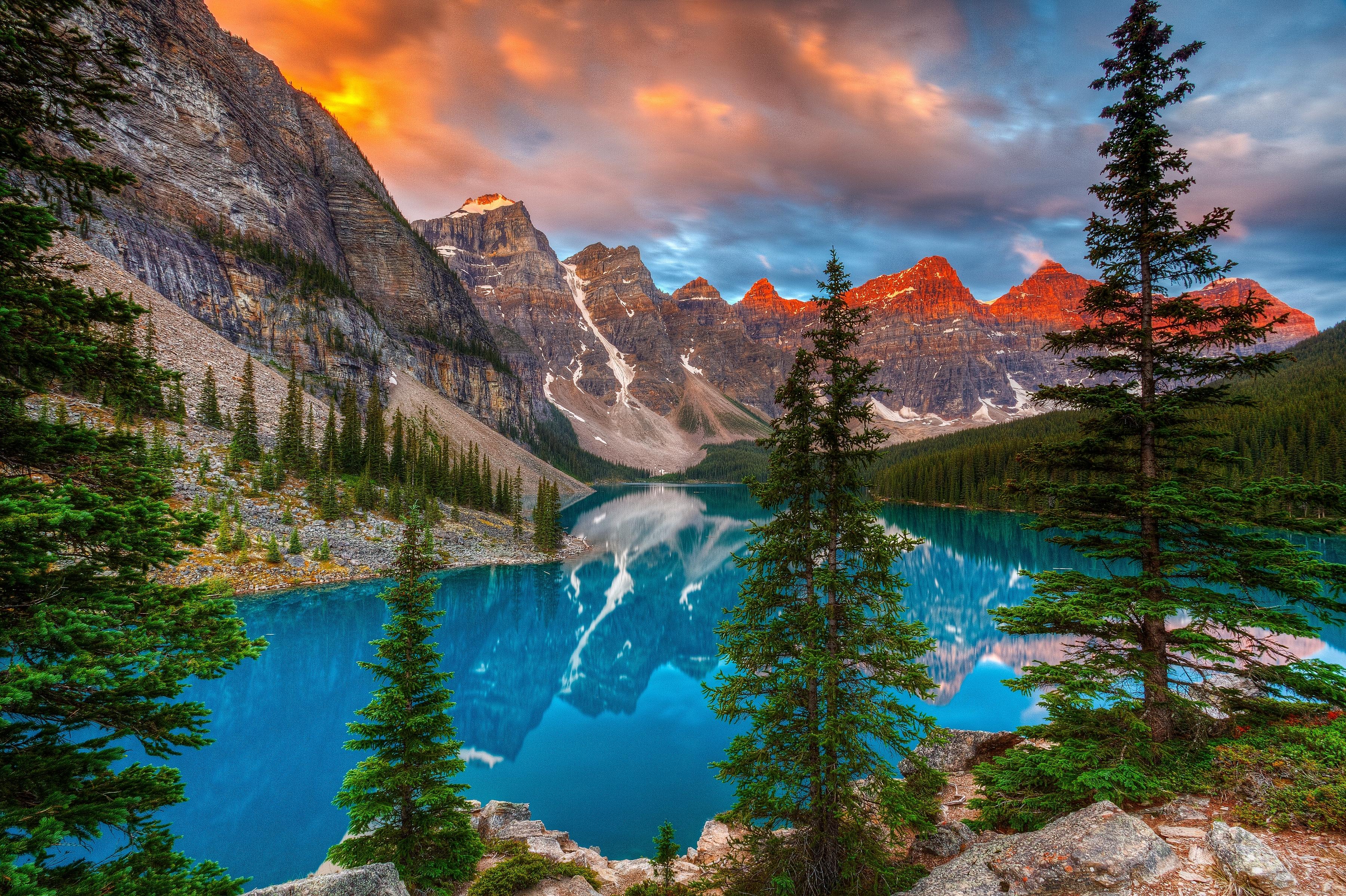 Wallpaper Canada Moraine Lake Alberta Valley Of The Ten
