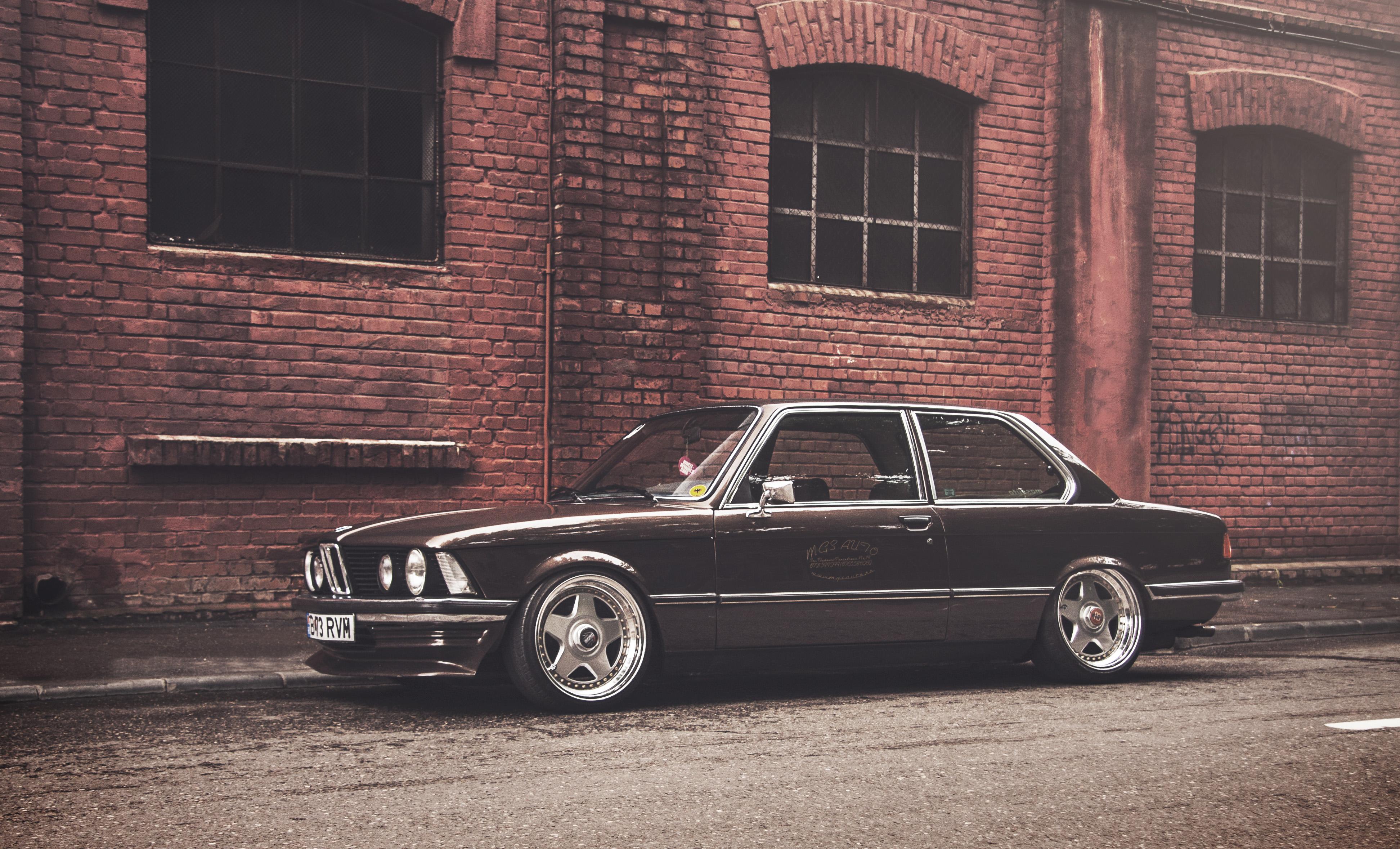 Fonds d'ecran BMW E21 Noir Brique Mur Voitures télécharger ...