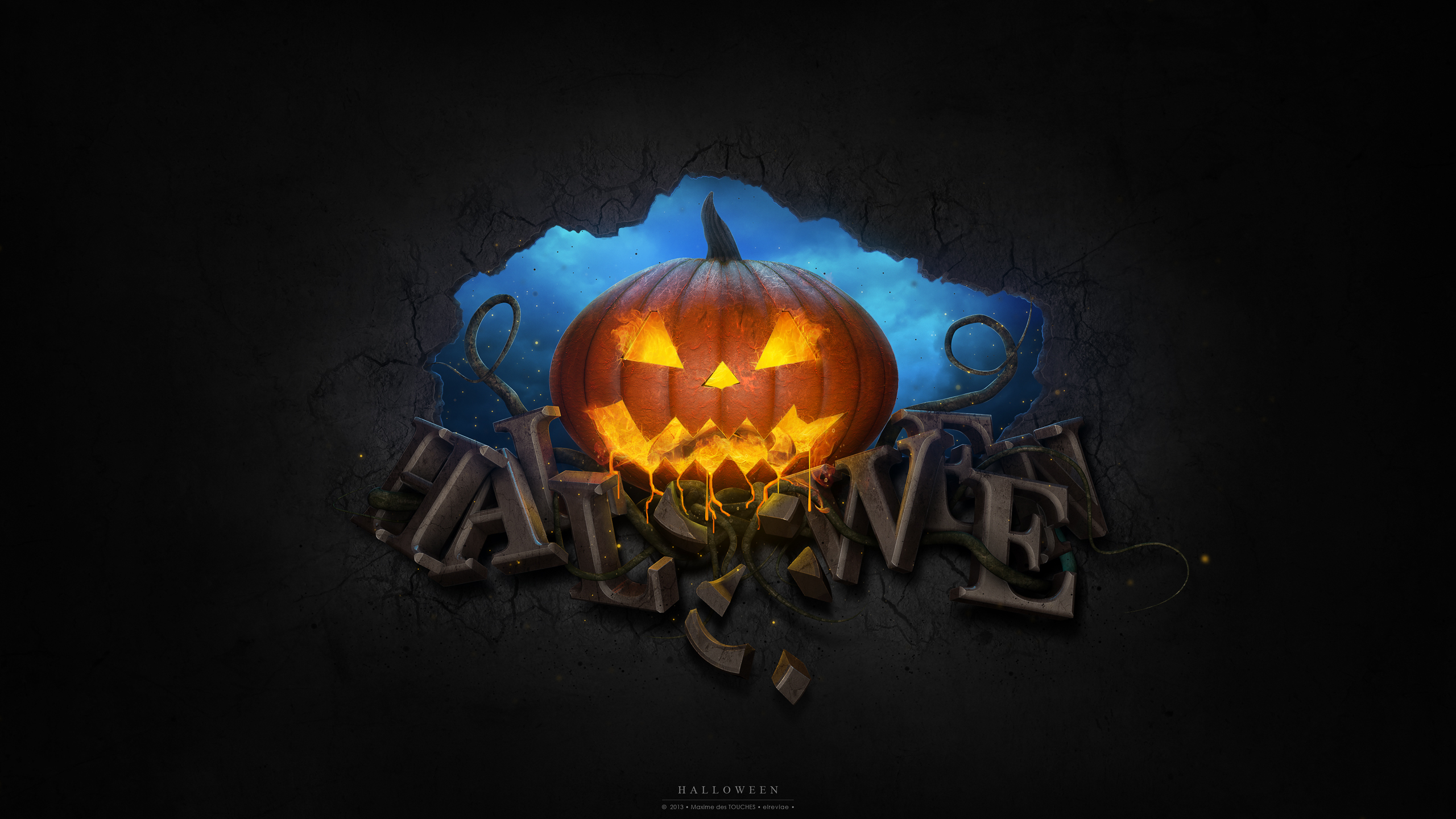 photo pumpkin halloween holidays 2560x1440