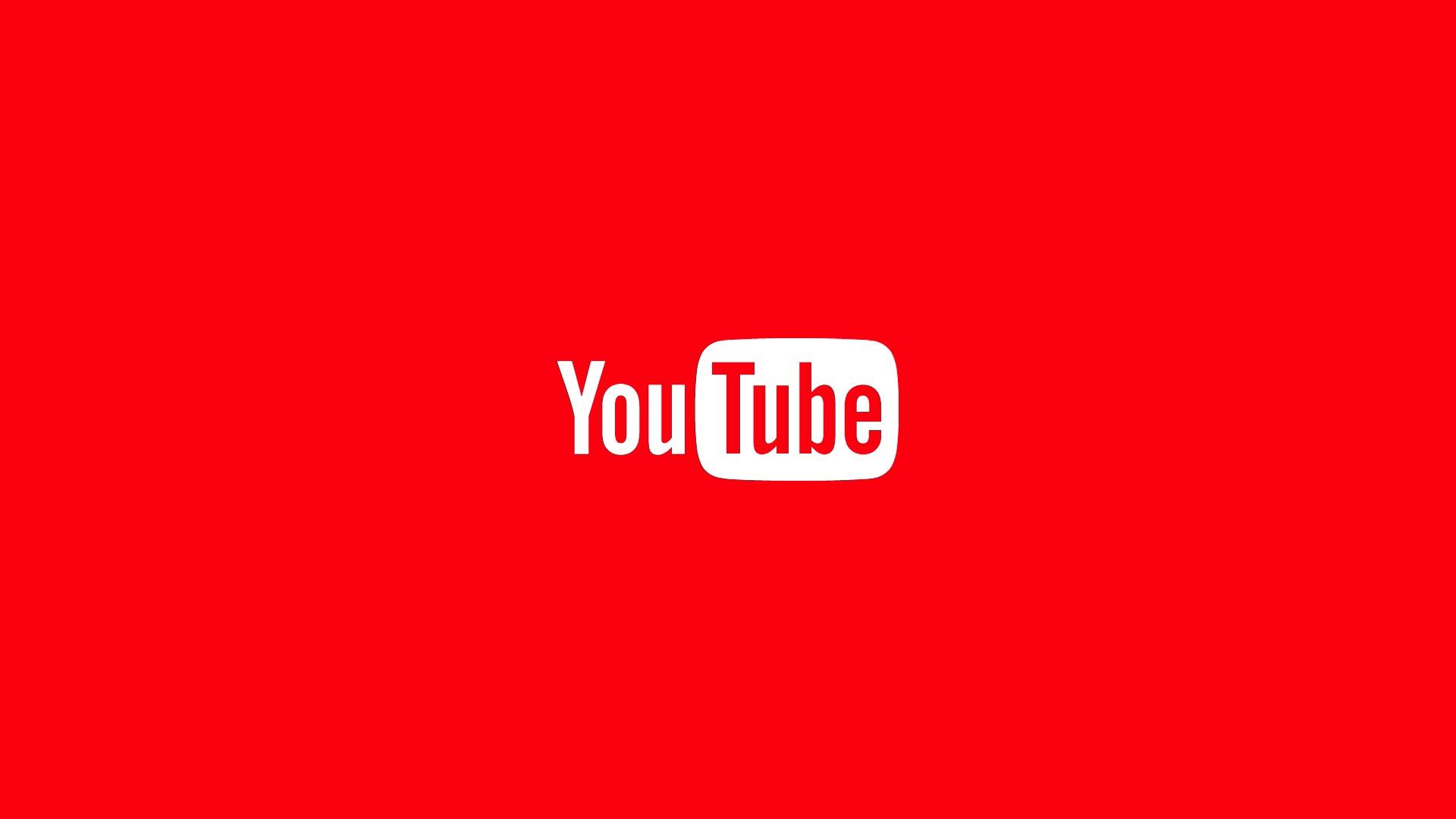 壁紙 1920x1080 ロゴエンブレム Youtube 赤の背景 ダウンロード 写真