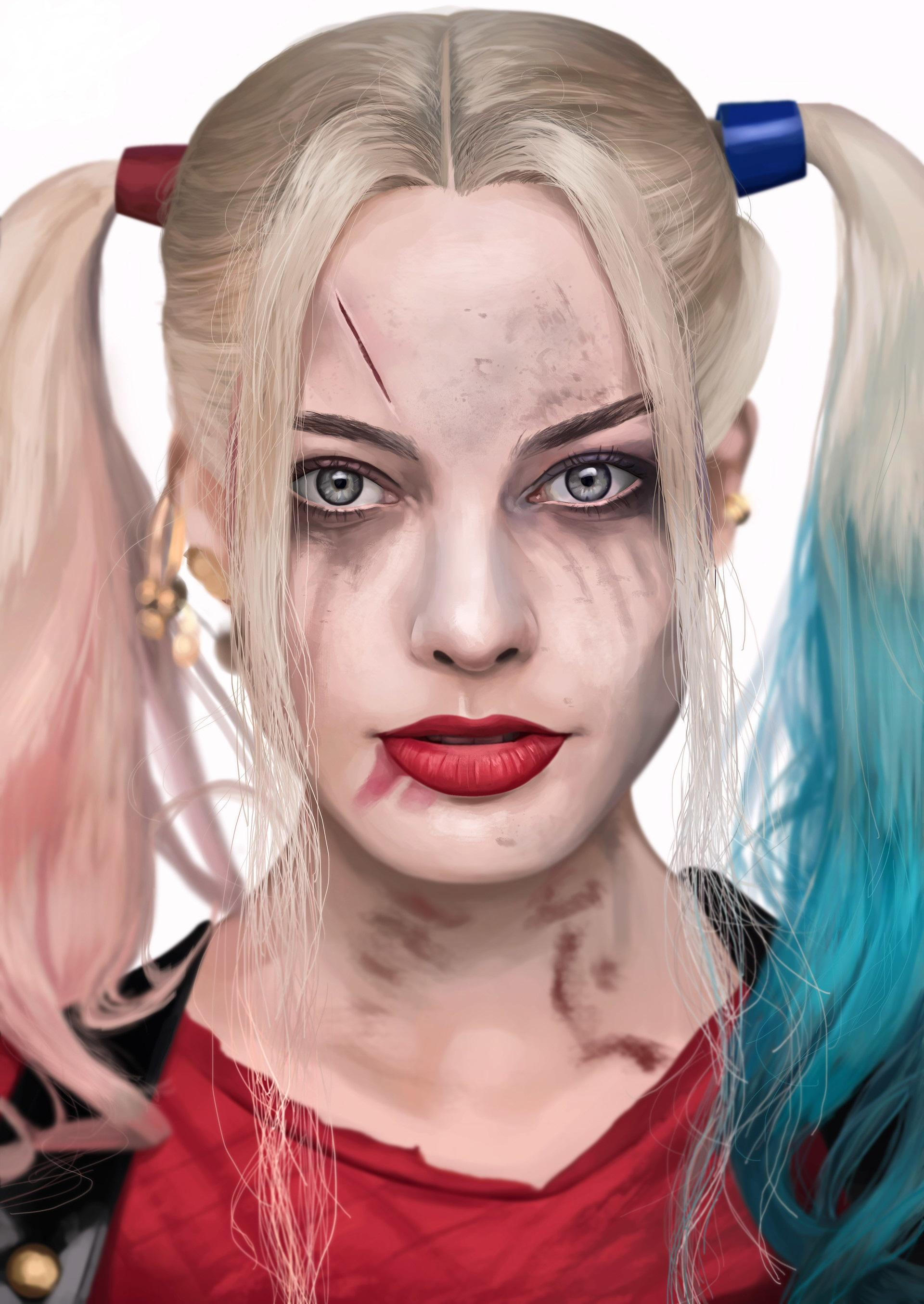 Wallpaper Suicide Squad 2016 Margot Robbie Blonde Girl 1920x2710