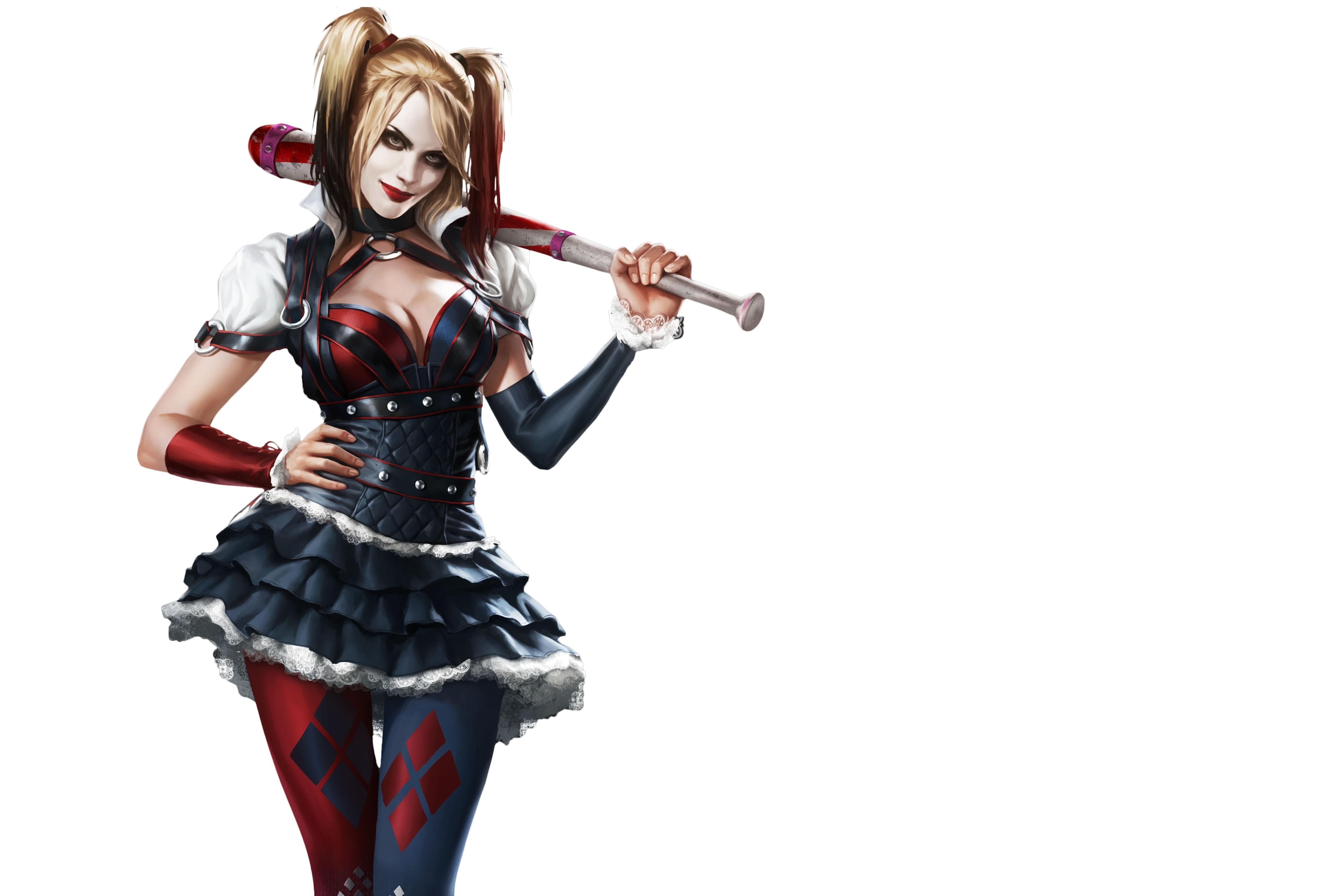 Wallpaper Batman Superheroes Skirt Harley Quinn Hero 4703x3192