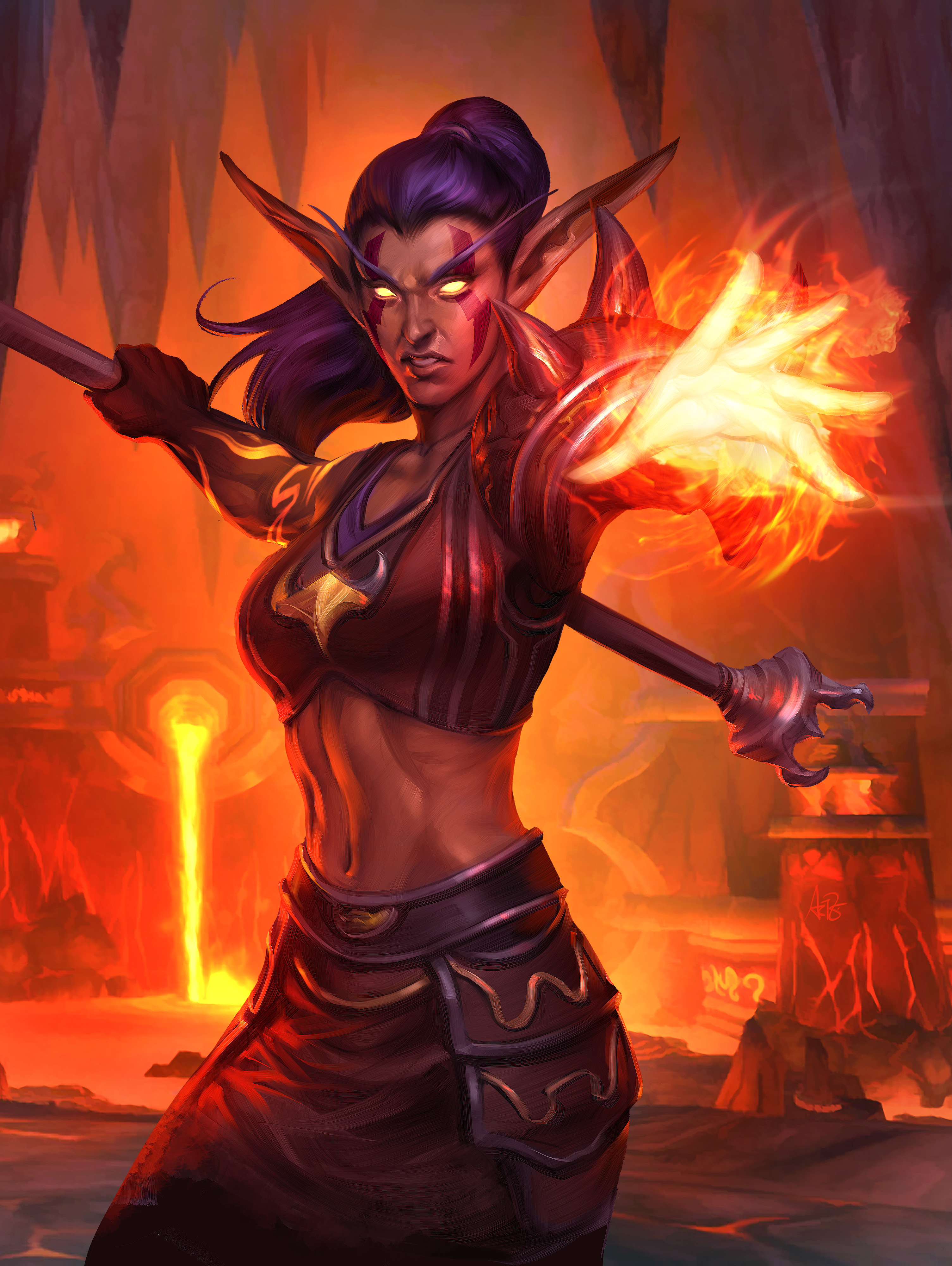 Pictures World Of Warcraft Sorcery Elves Druid Of The 3010x4000