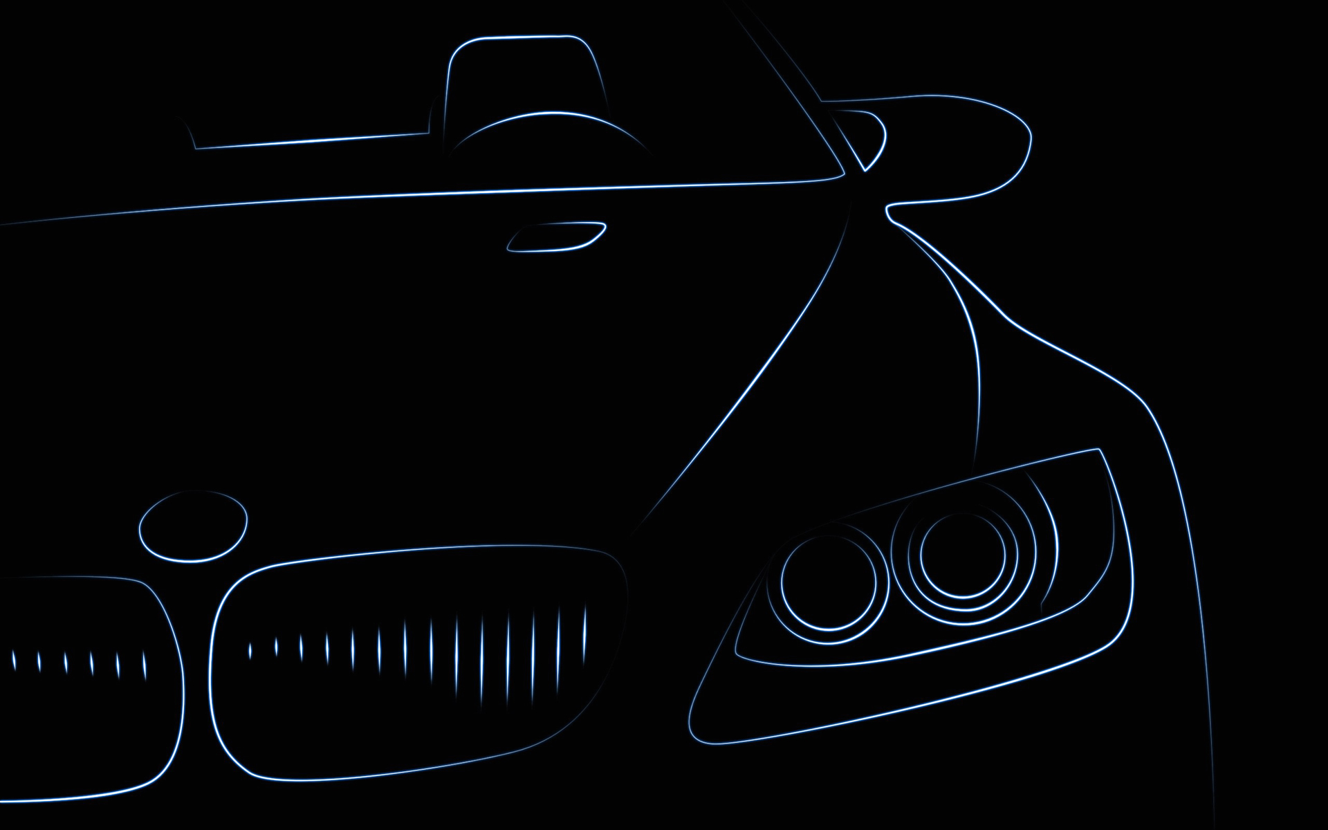 Wallpaper Bmw Auto Front Headlights Painting Art Vector Graphics
