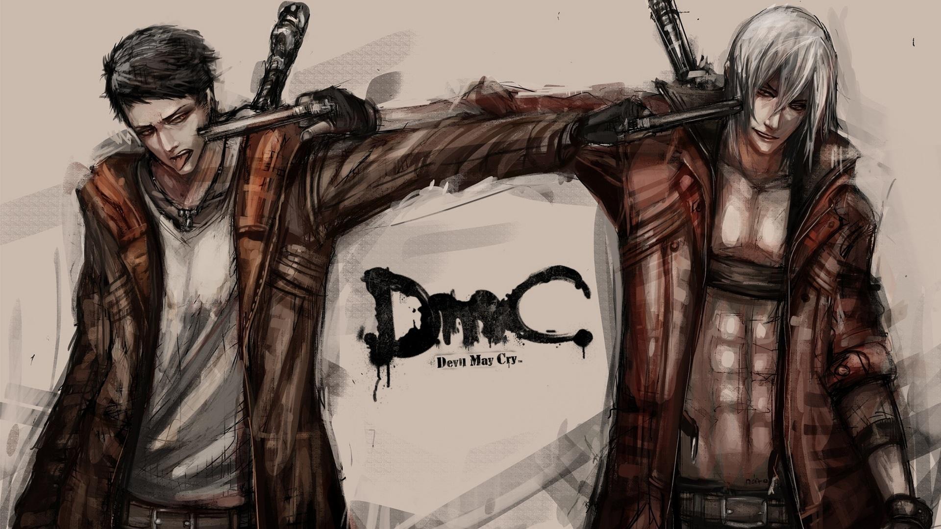 Wallpaper Dante Devil May Cry Pistols Man Jacket Games 1920x1080