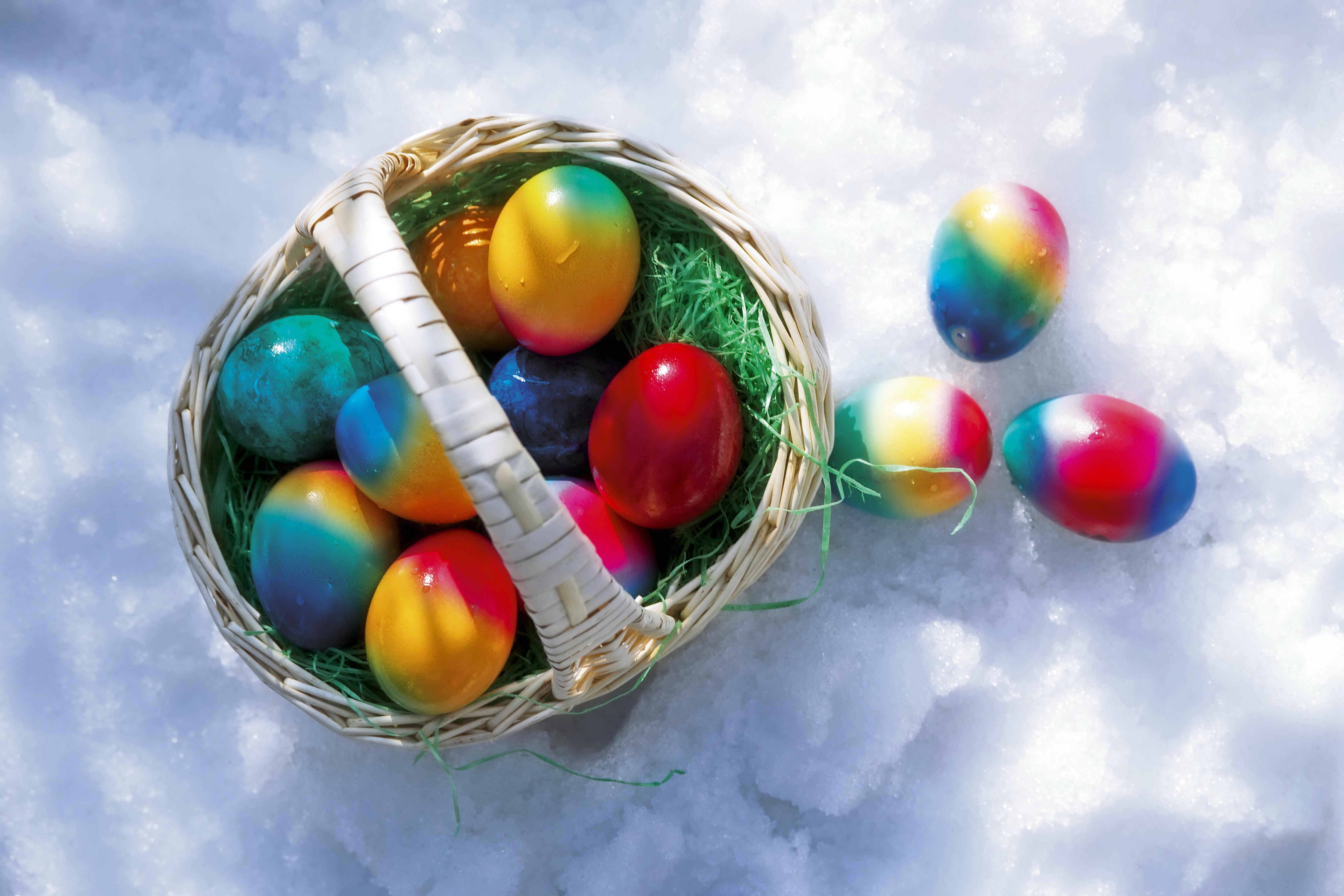 壁紙 5000x3333 祝日 復活祭 卵 籠 ダウンロード 写真