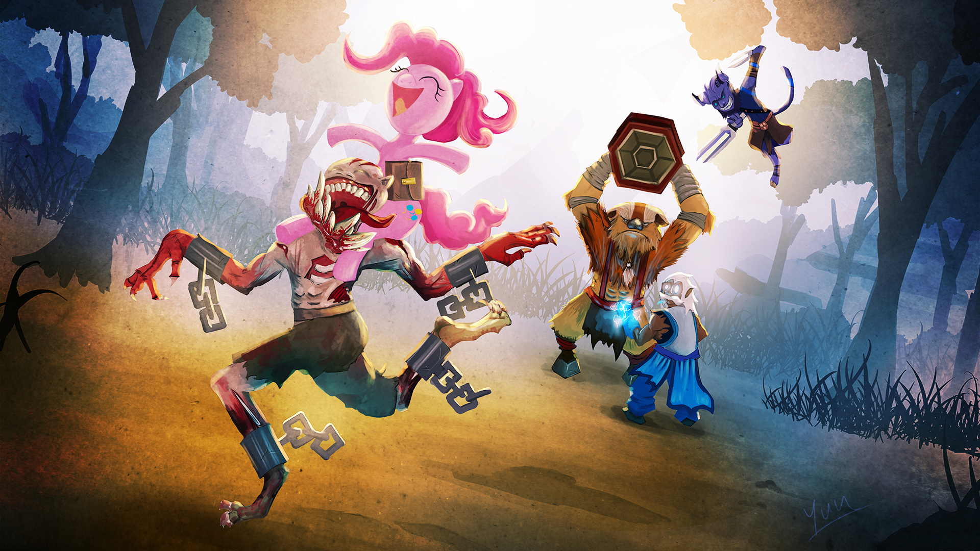 Picture Dota 2 My Little Pony Riki Lifestealer Earthshaker 1920x1080