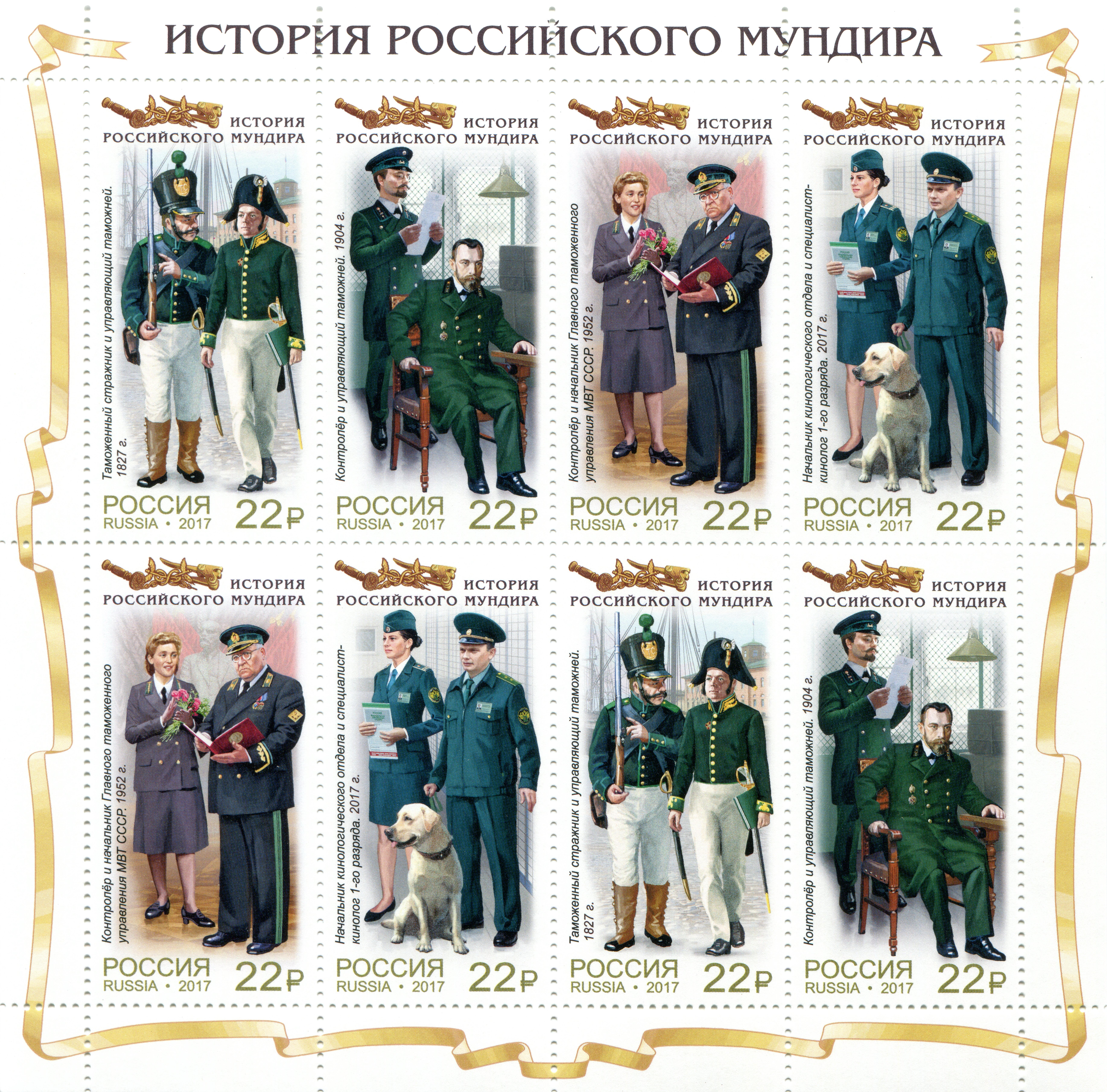 Photo Postage Stamp The History Of The Russian Uniform 7339x7241