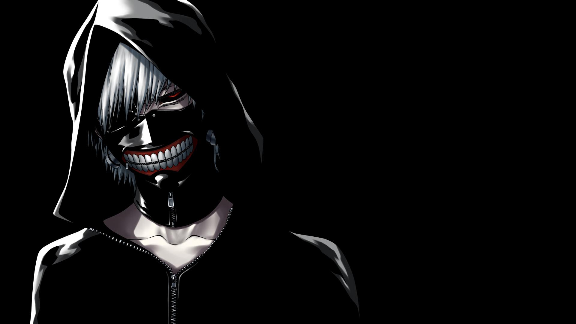 Masque Tokyo Ghoul Kaneki Ken Capuche Jeune homme mec, adolescent Anime