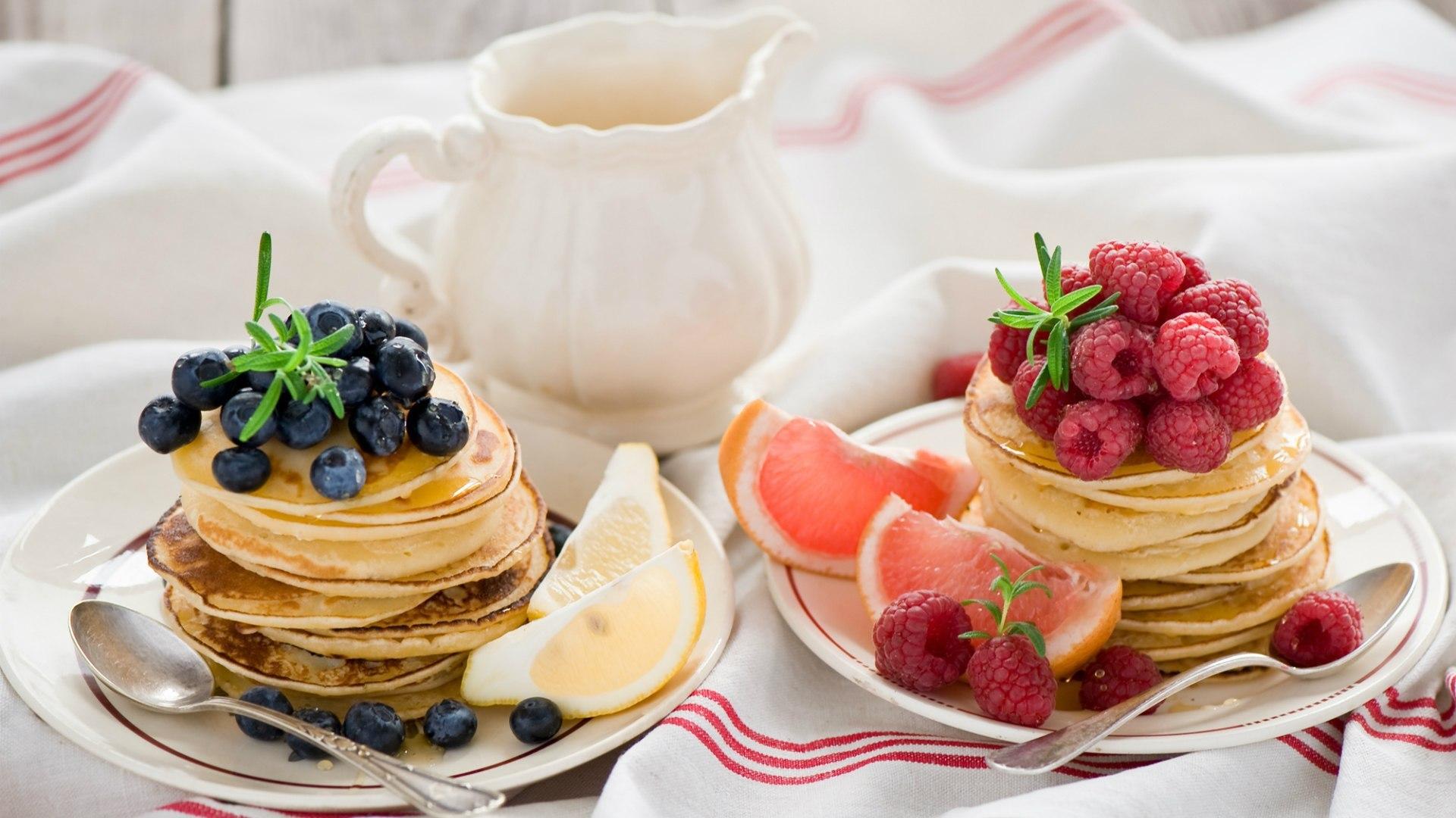 壁紙 パンケーキ ラズベリー ブルーベリー 食品 ダウンロード 写真