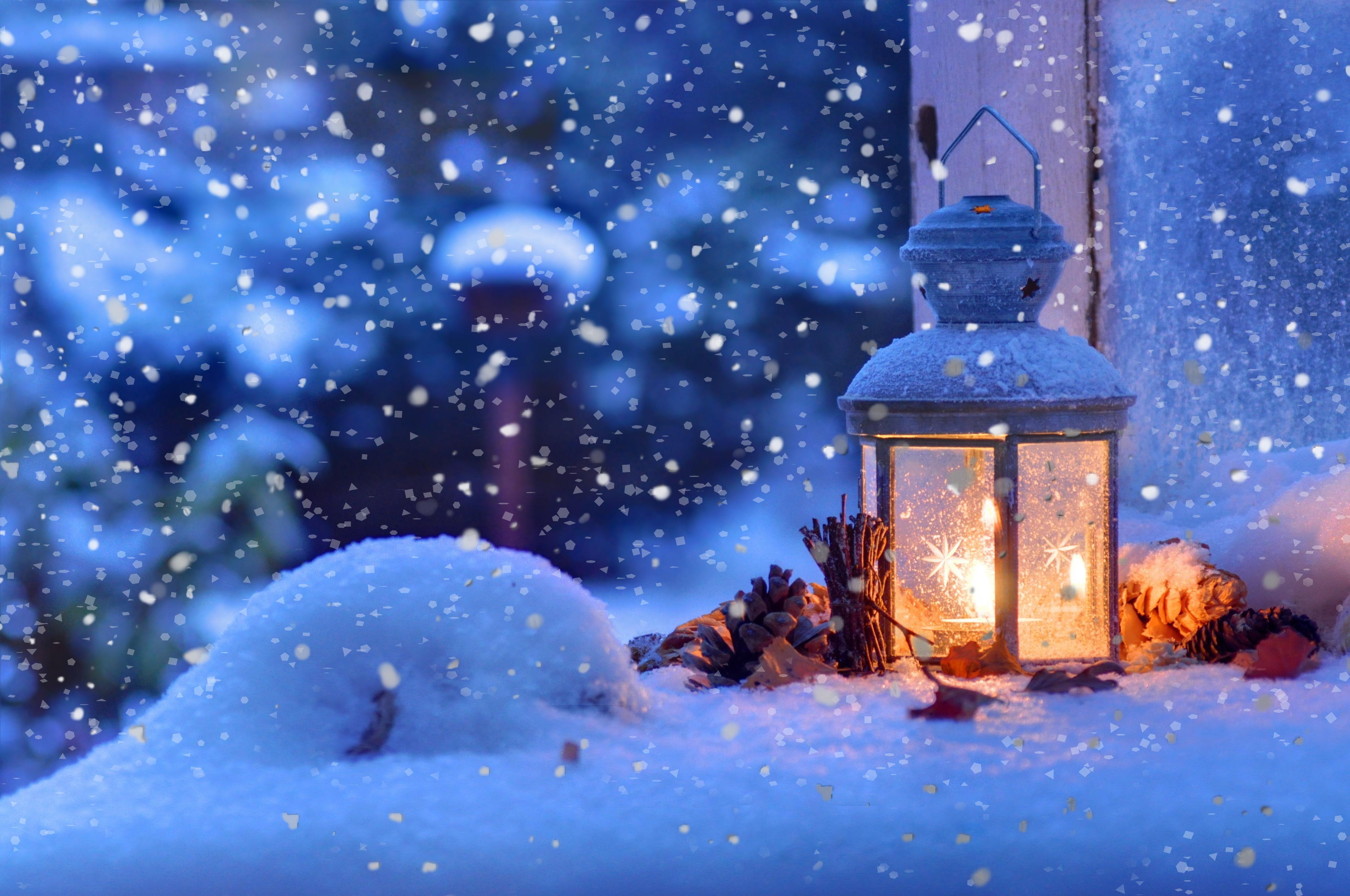Новогодние Обои Снег На Рабочий Стол