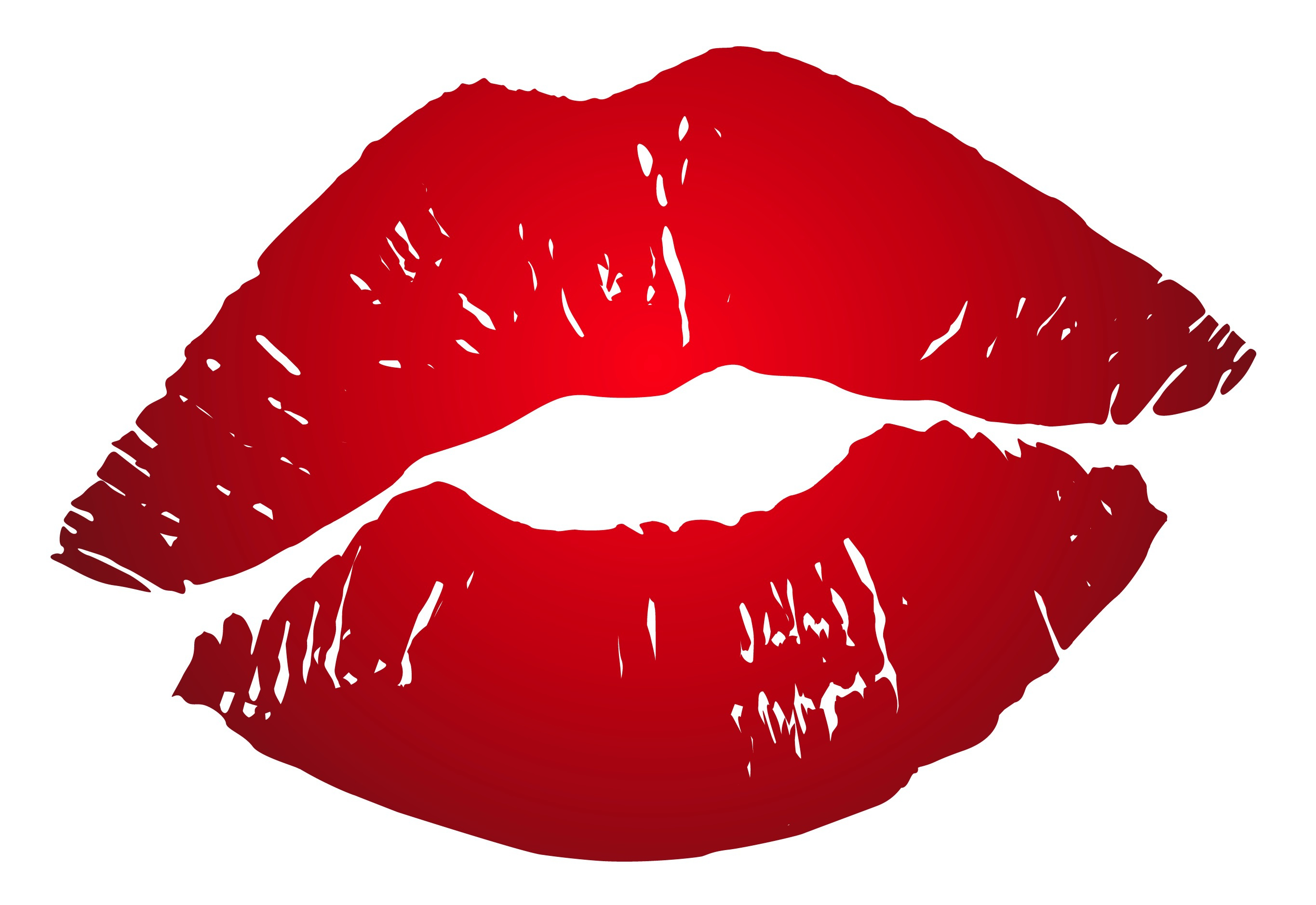 Images Silhouette Red Lips White background