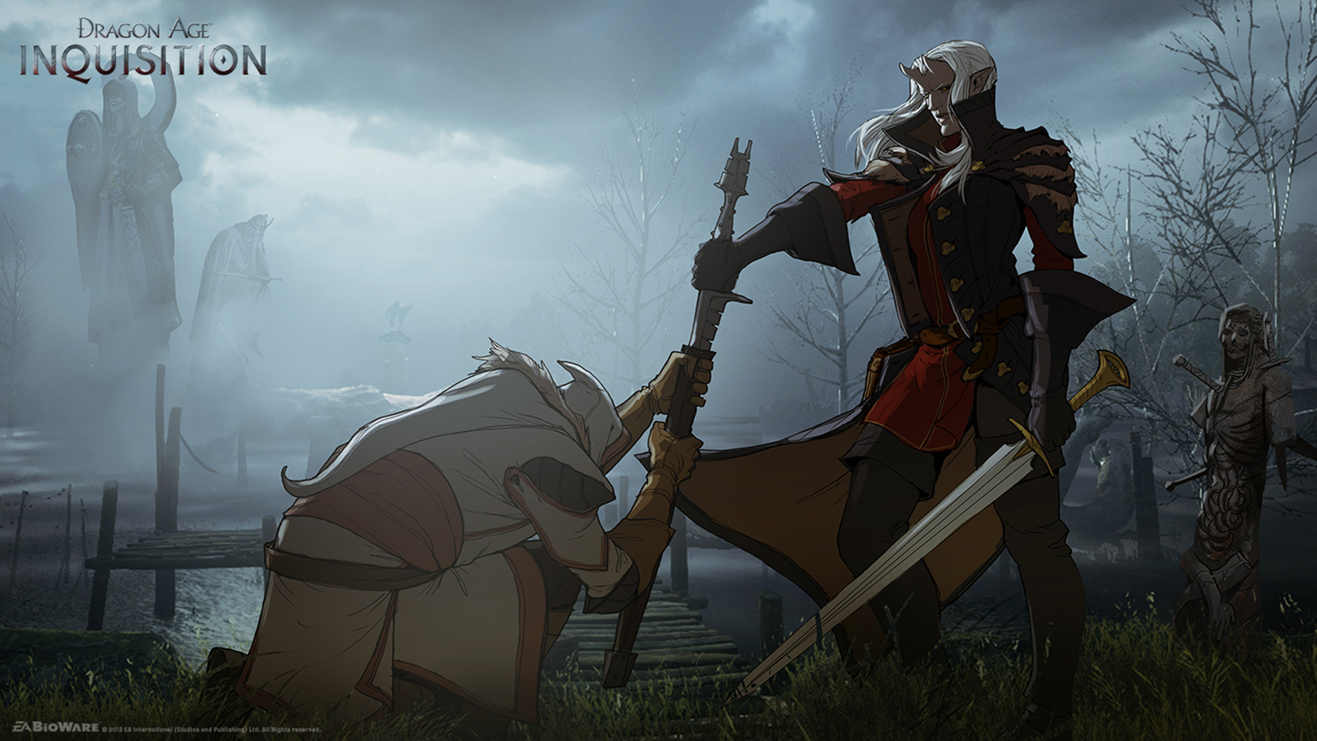 Desktop Wallpapers Dragon Age Swords Elves Inquisition 1920x1080