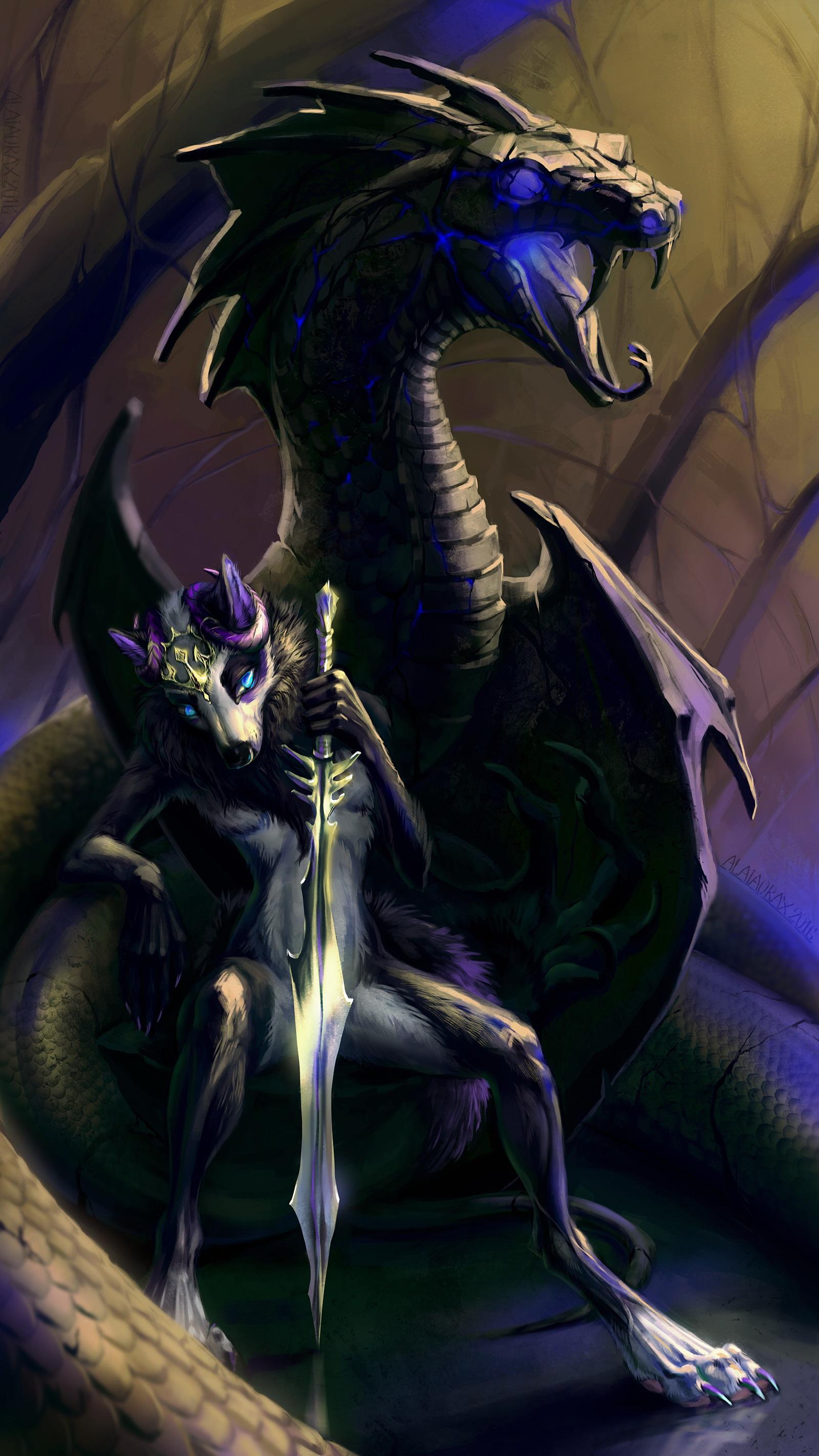 Photos Swords dragon Fantasy Magical animals