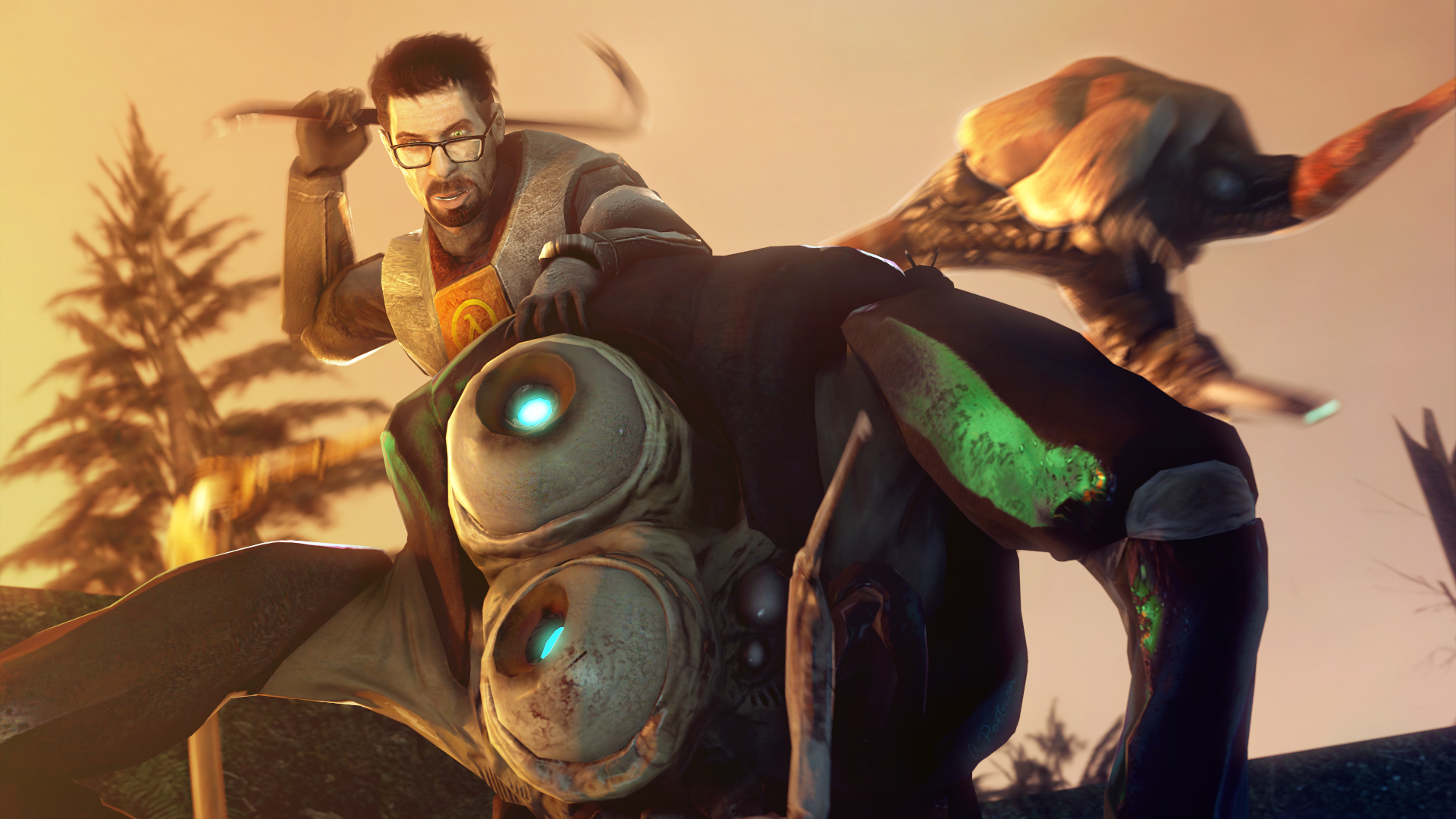 Images Half Life 2. Episode One monster 3D Graphics Games 1920x1080
