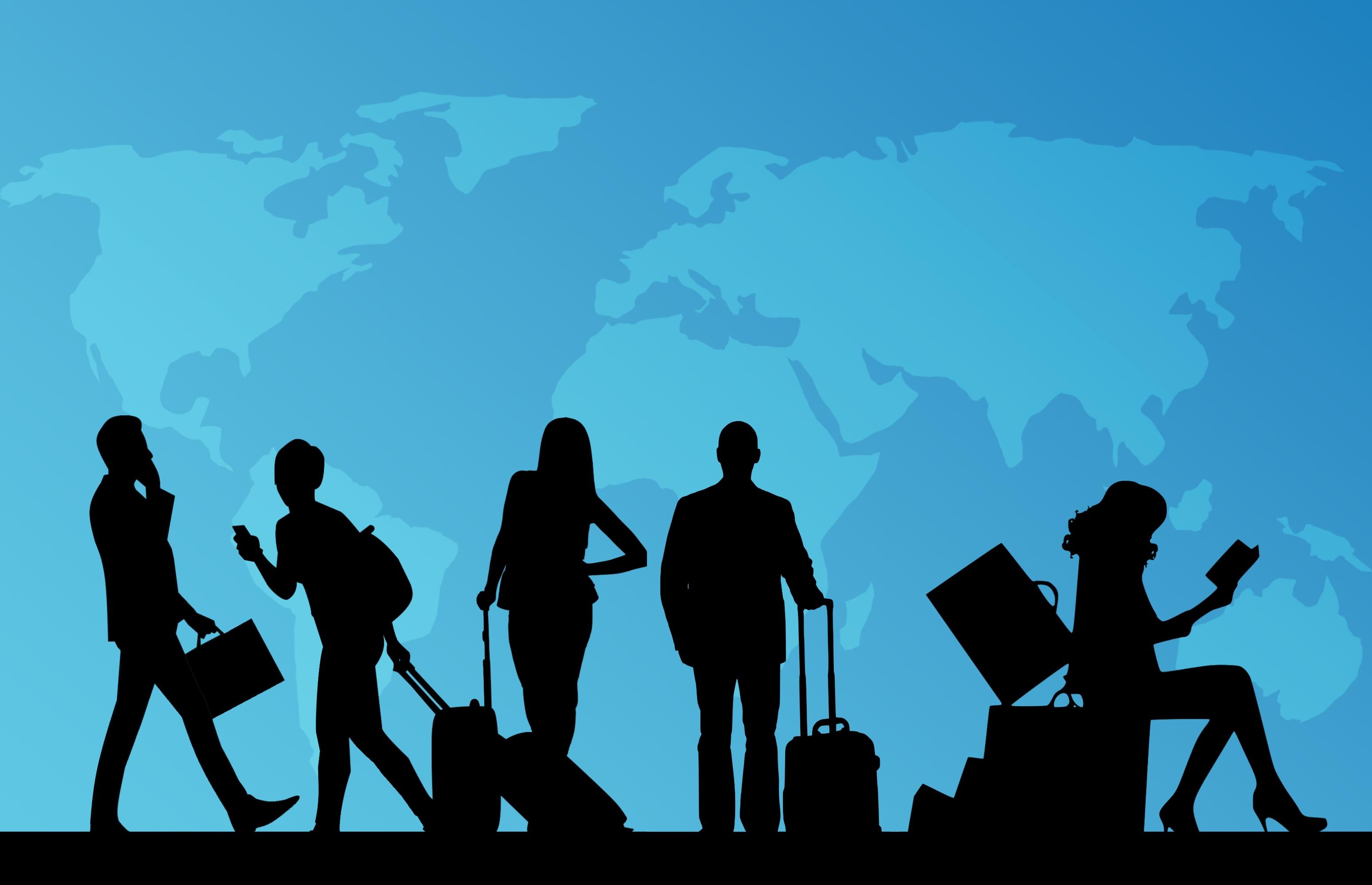 壁紙 人々 シルエット ツーリスト スーツケース ダウンロード 写真