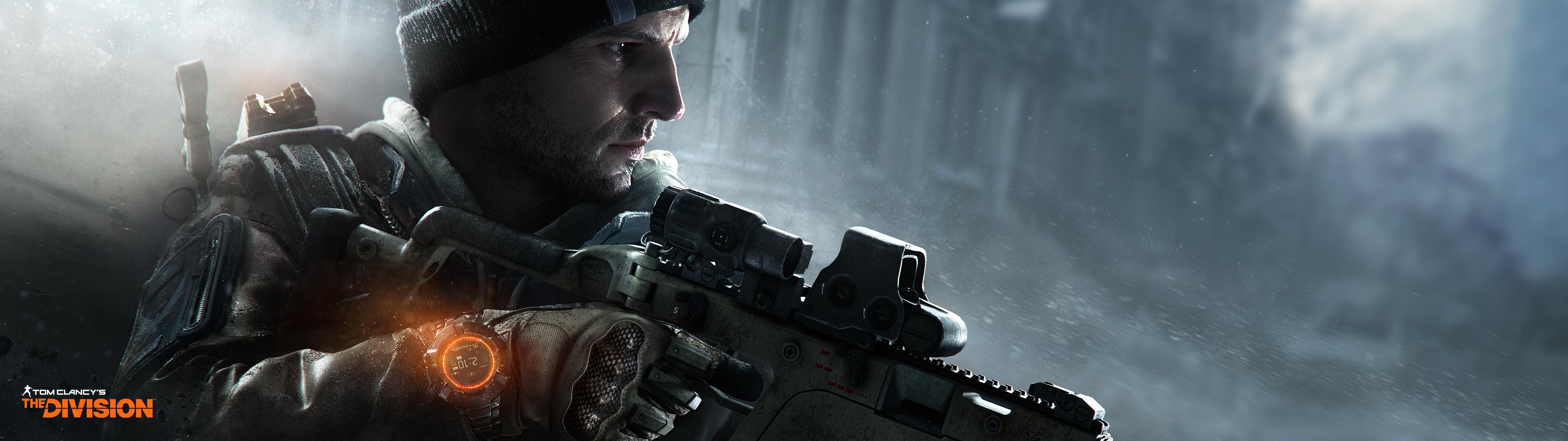 壁紙 3840x1080 トム クランシー スナイパーライフル The Division 狙撃手 ゲーム ダウンロード 写真