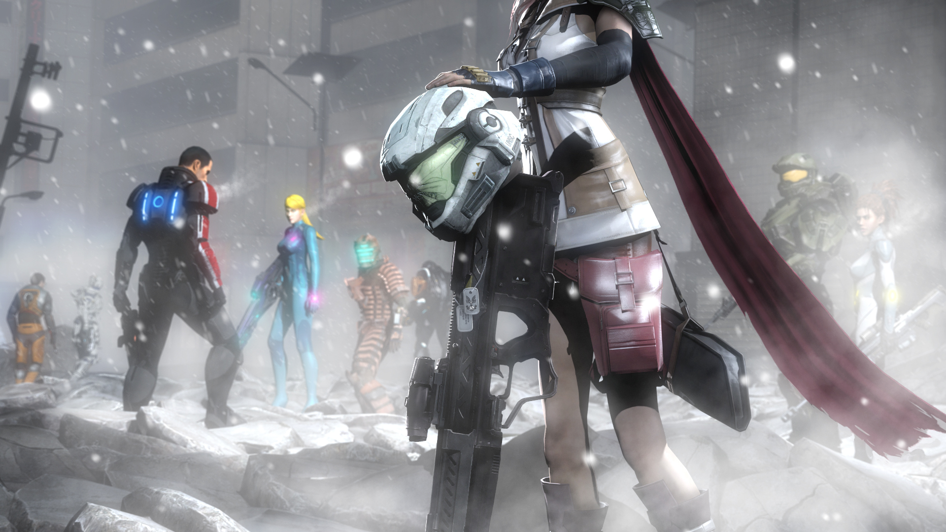 Desktop Wallpapers Dead Space Mass Effect Rifles Helmet