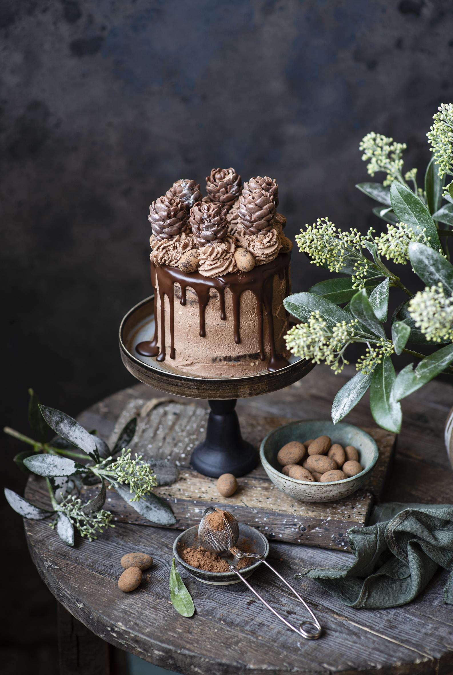 壁紙 ケーキ 菓子 チョコレート デザイン ココアパウダー 食品