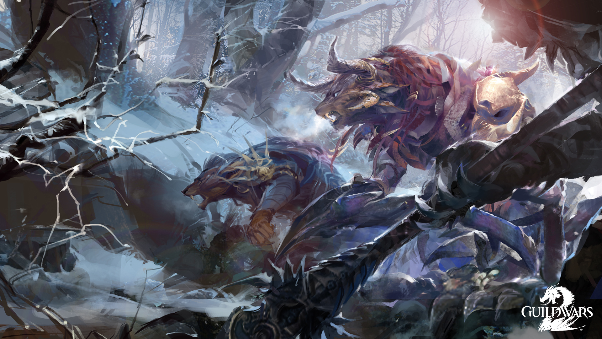 Image Guild Wars 2 Monsters Fantasy Vdeo Game Fighting 1920x1080