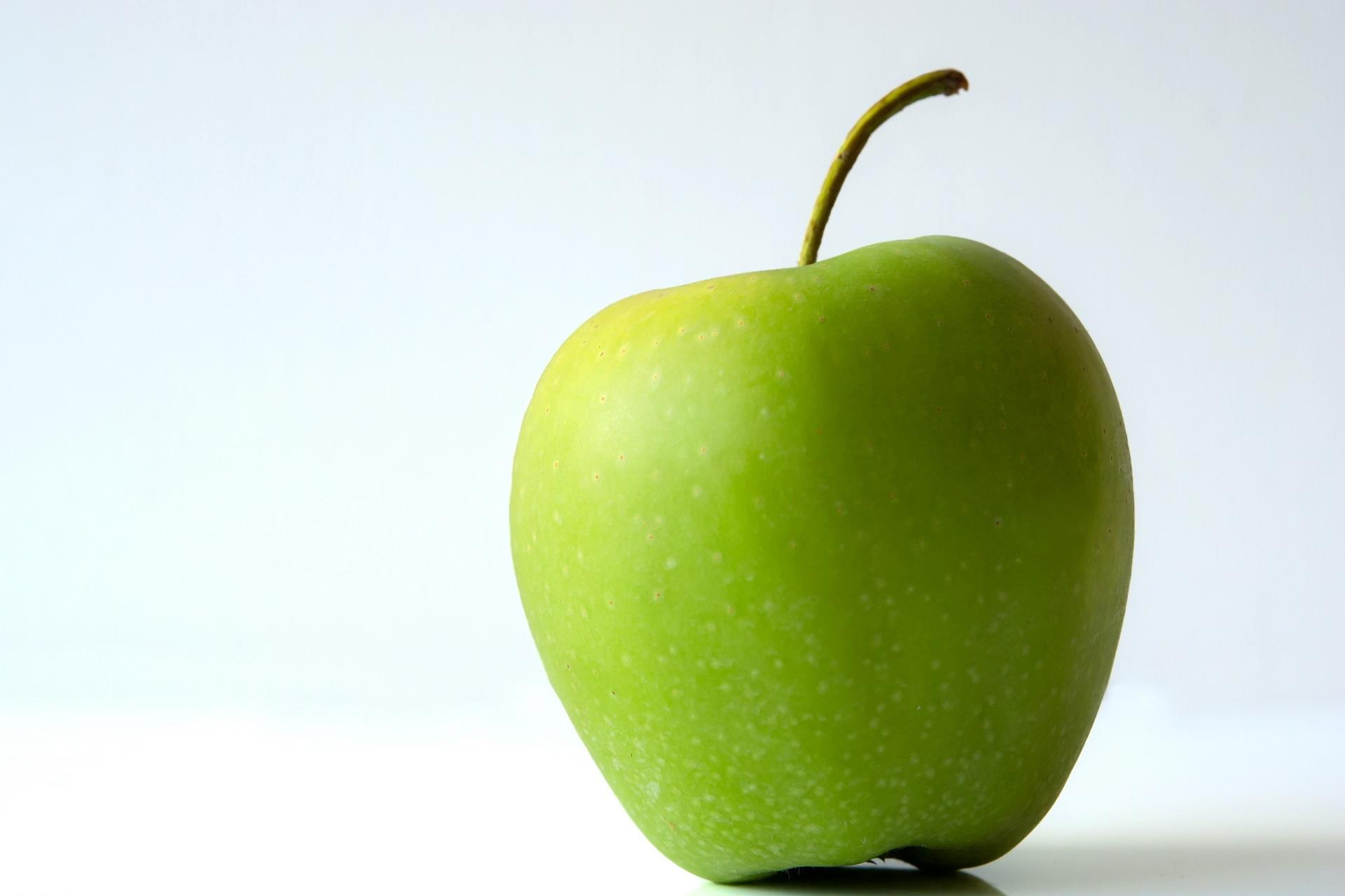Images Green Apples Food Fruit Closeup