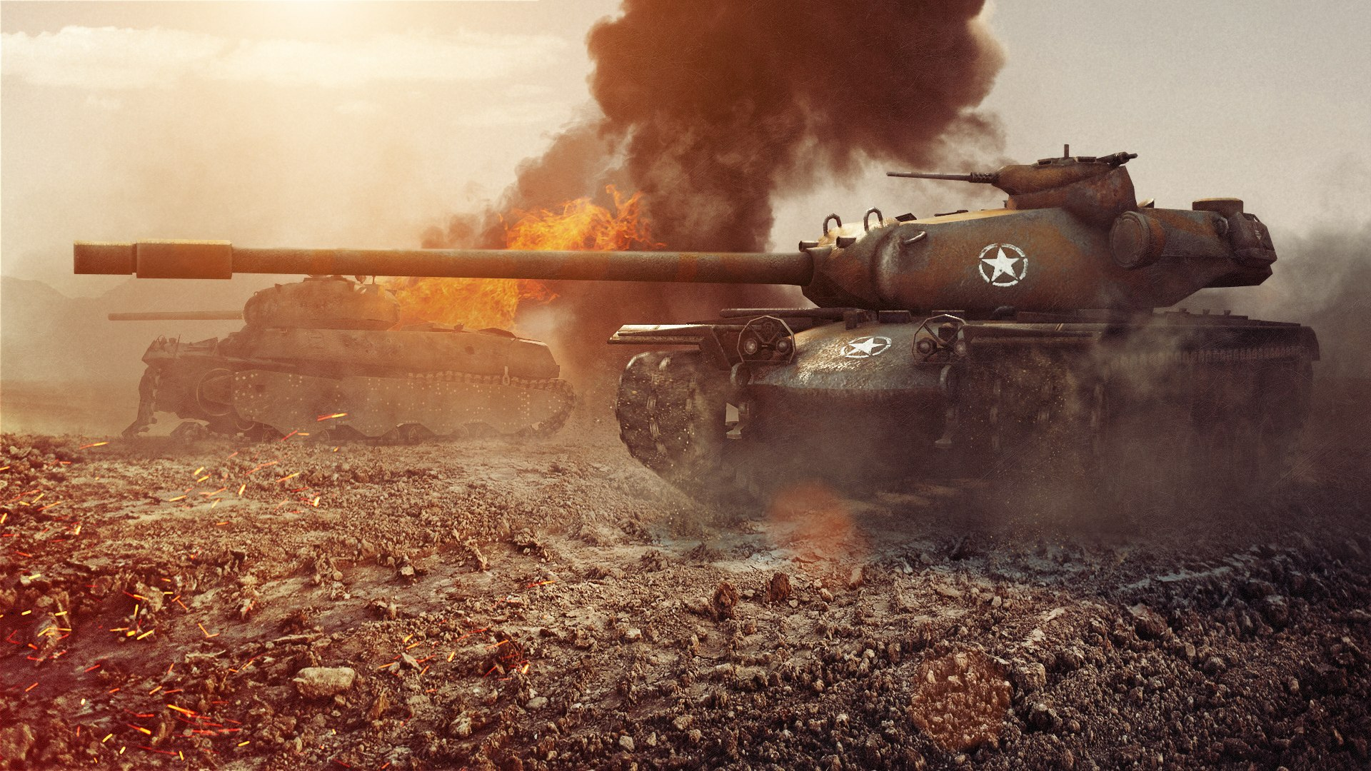 Wallpapers World of Tanks tank T110E5 3D Graphics vdeo 1920x1080