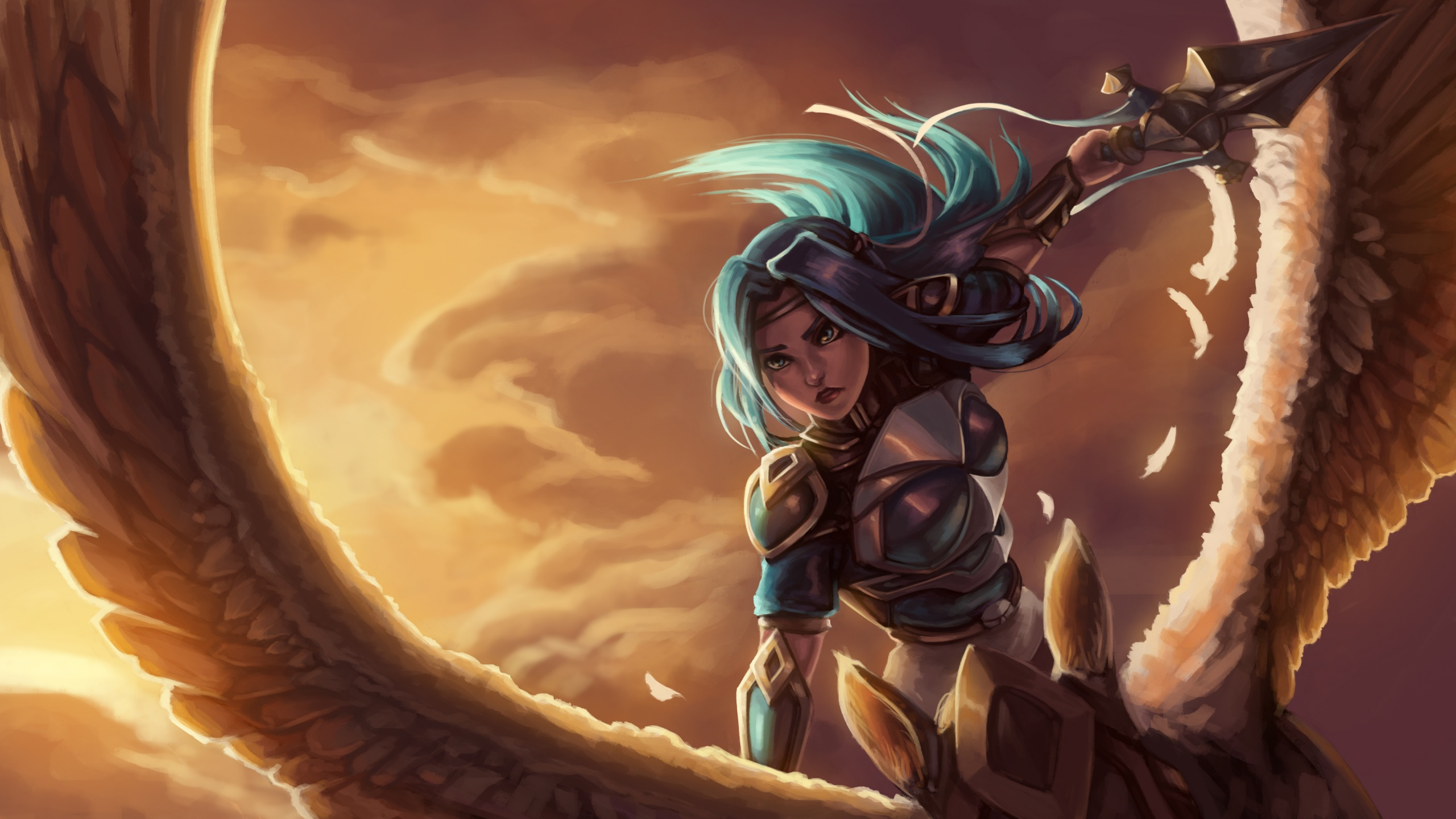 Picture League Of Legends Fanart Fiora Grand Duelist 2560x1440