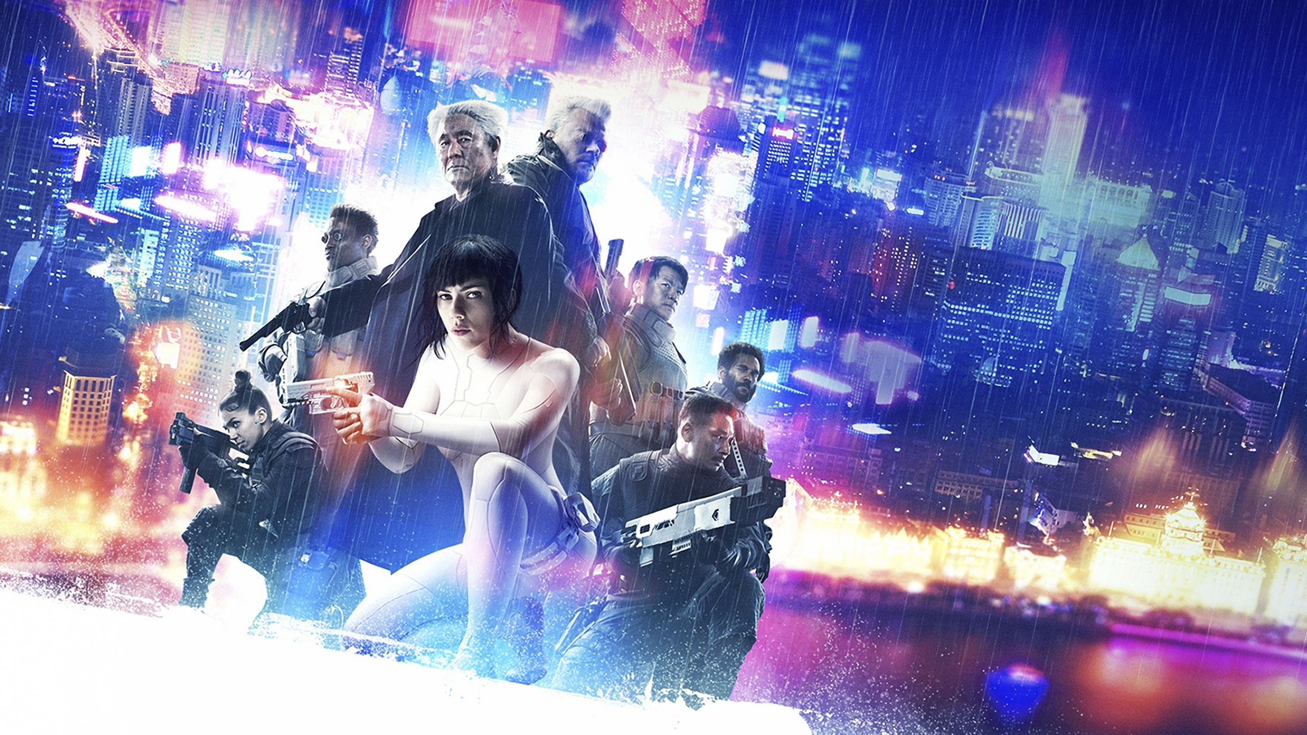 Picture Ghost In The Shell 2017 Scarlett Johansson Pistol