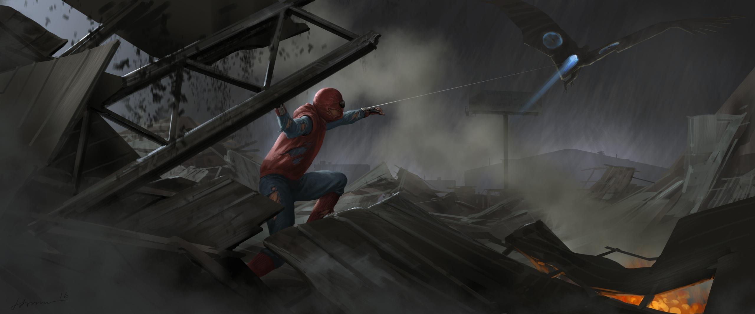 Images Spider Man Homecoming Superheroes Spiderman Hero 2560x1066