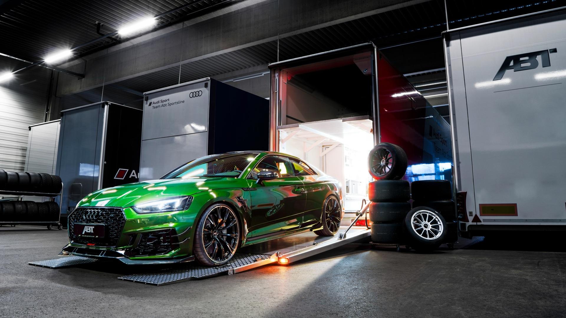 Fondos De Pantalla 1920x1080 Audi Rs5 2018 Rs5 R Abt Verde