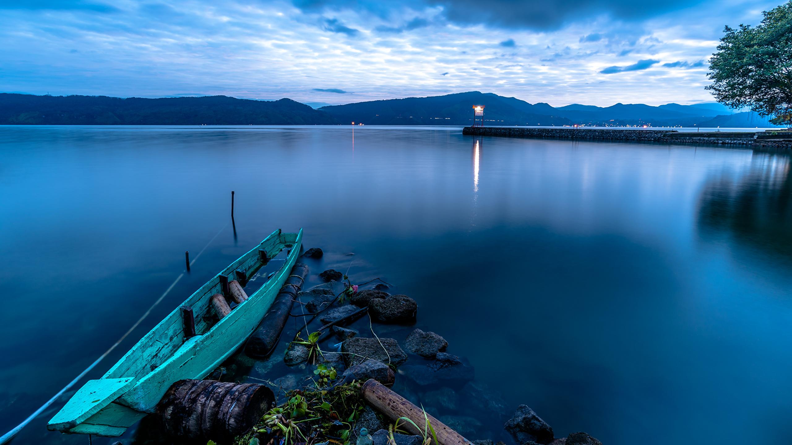 Fonds Decran 2560x1440 Indonésie Lac Levers Et Couchers De