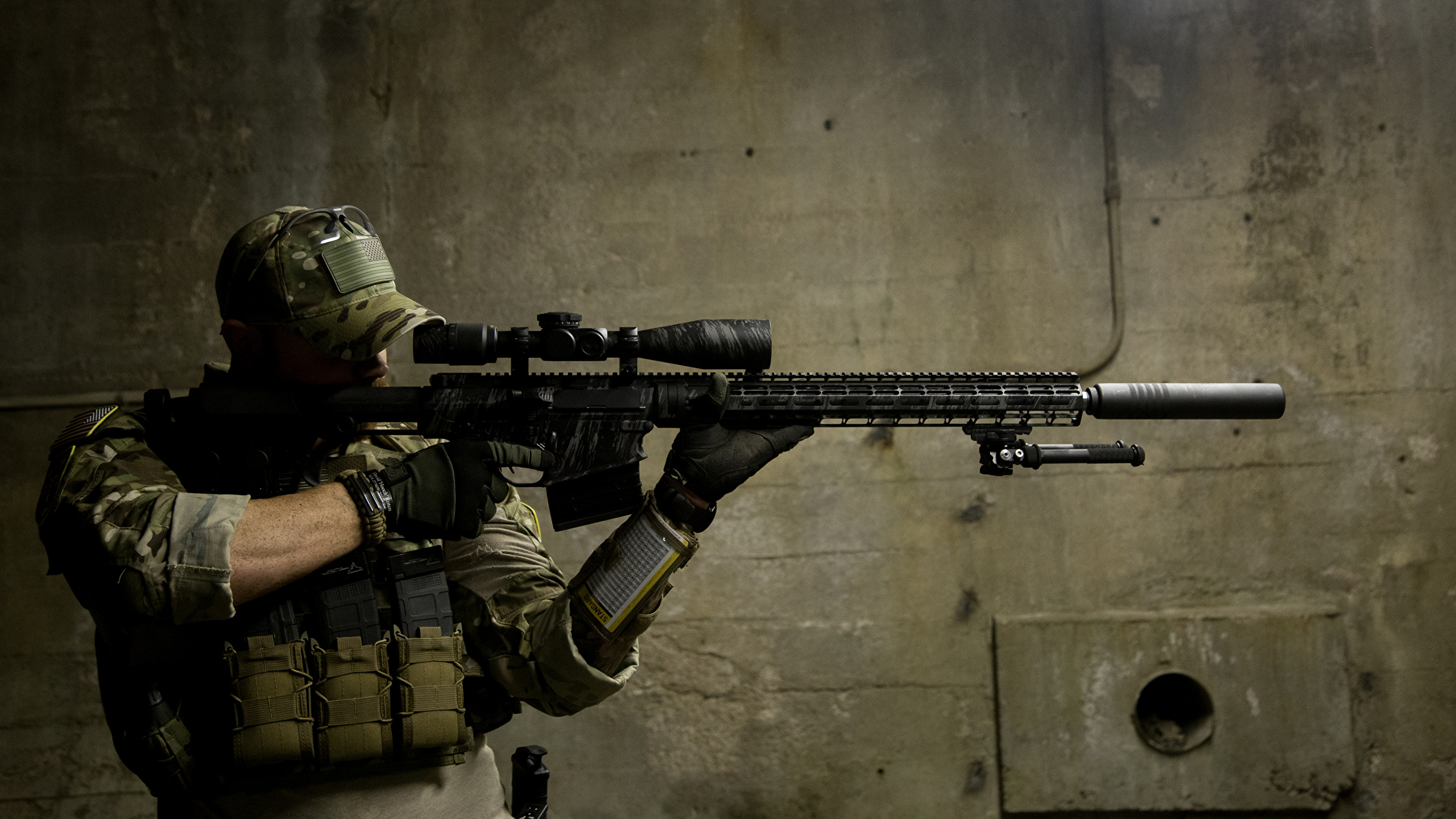 Wallpaper Sniper Rifle Snipers Soldiers Army 2560x1440