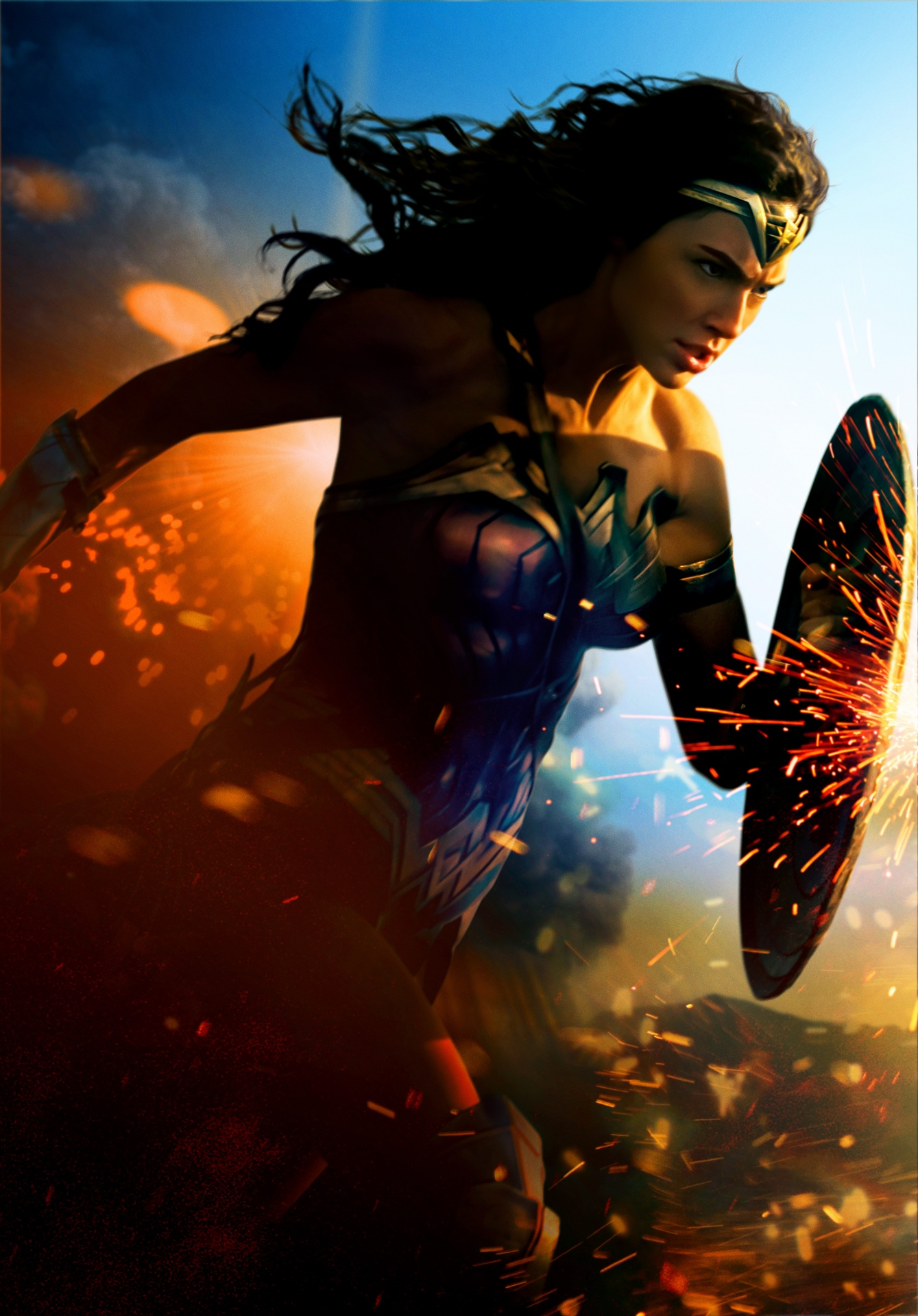 Photo Wonder Woman 2017 Film Gal Gadot Shield Wonder 1339x1920