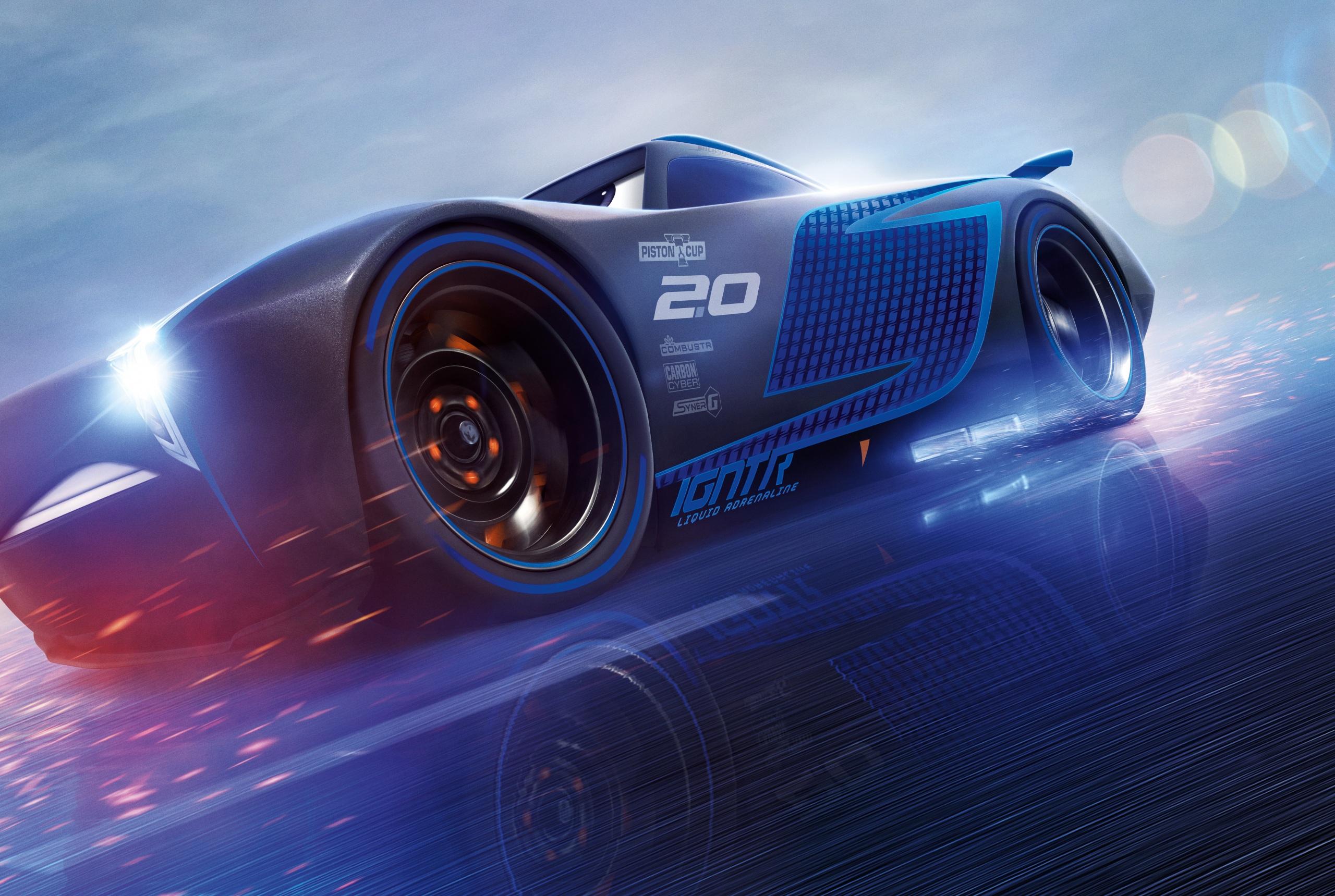 Fotos Cars 3 Jackson Storm Blau Animationsfilm 2560x1719 Zeichentrickfilm
