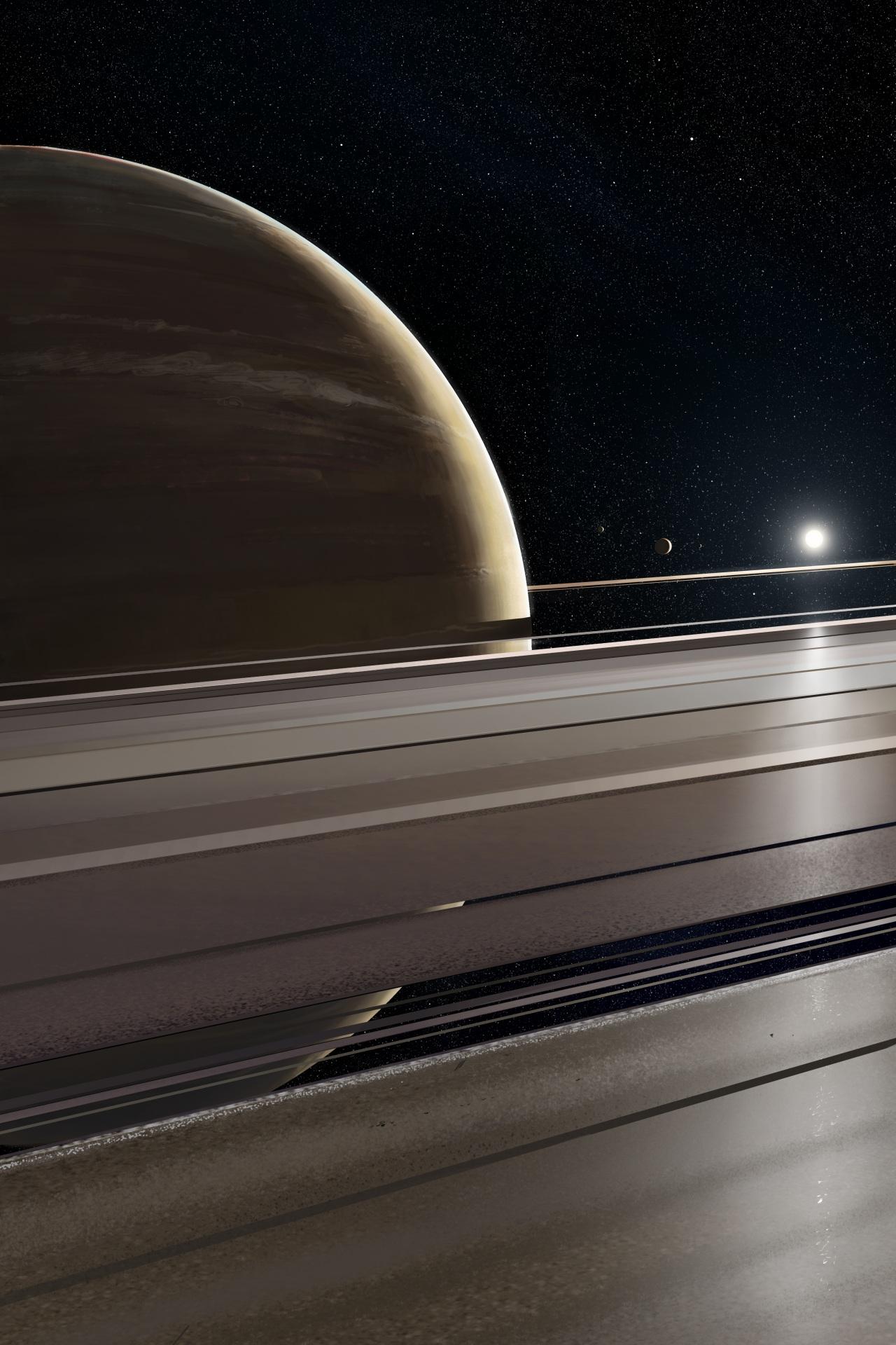 壁紙 1280x19 惑星 土星 環 天体 宇宙空間 ダウンロード 写真