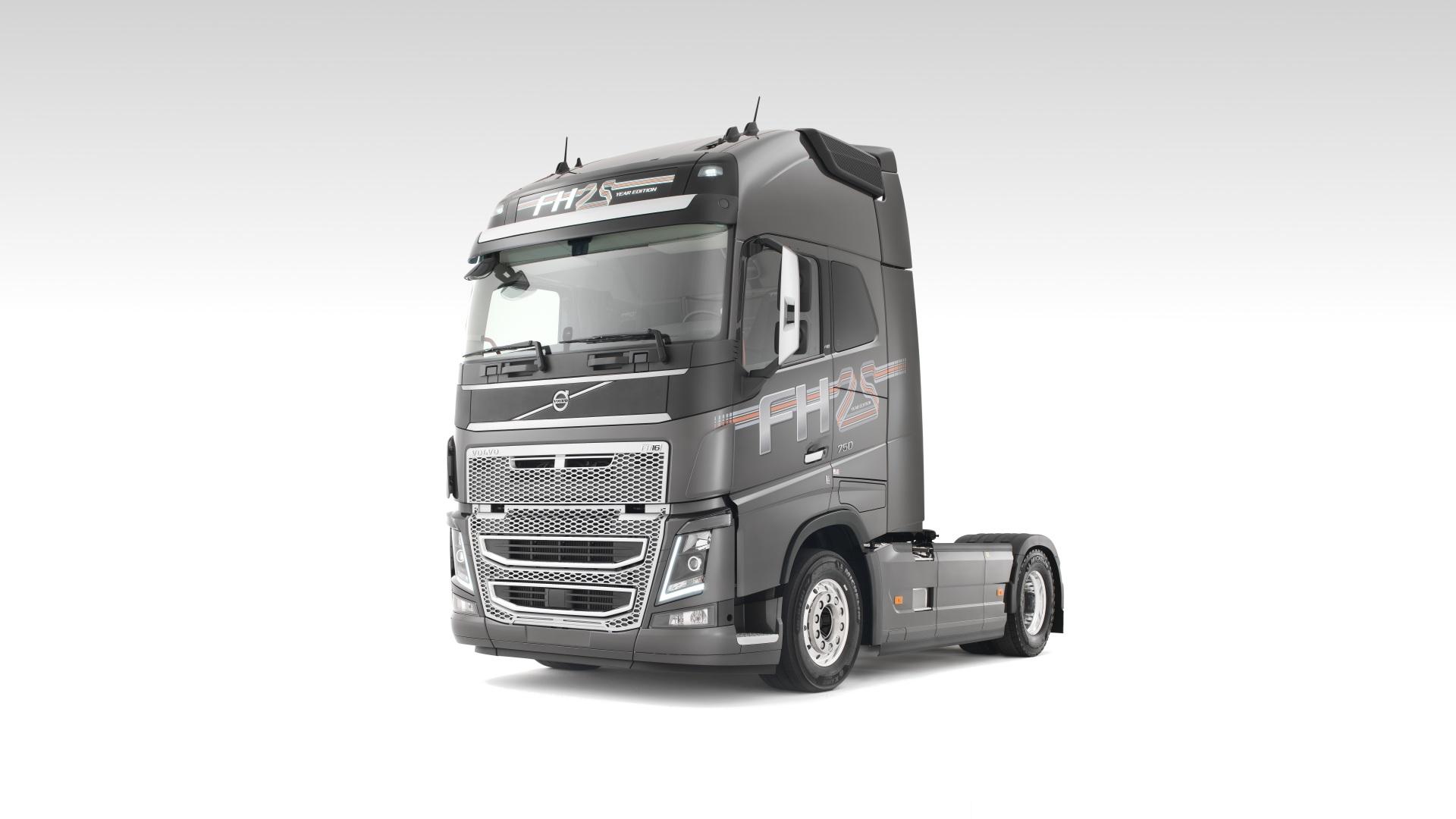 Bilder Volvo Lastkraftwagen FH16, 750 Grau automobil 1920x1080 graue graues auto Autos